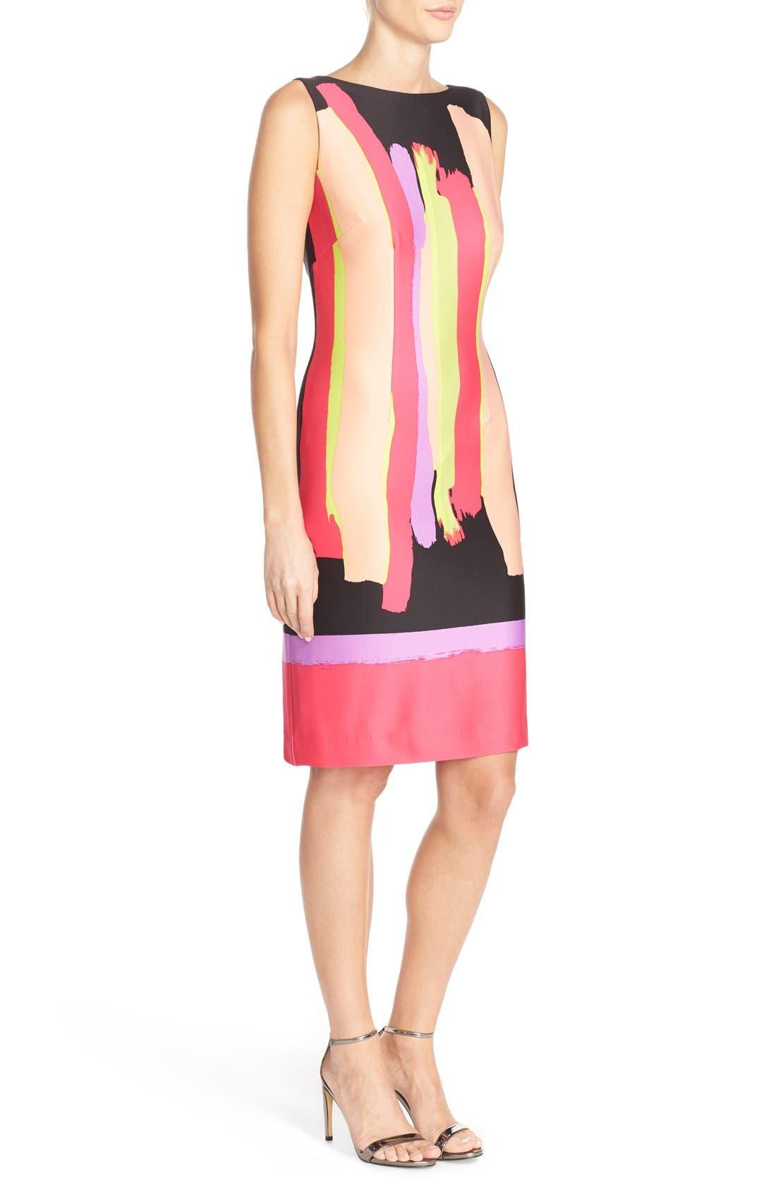 Alternate Image 3  - Chetta B Print Scuba Sheath Dress