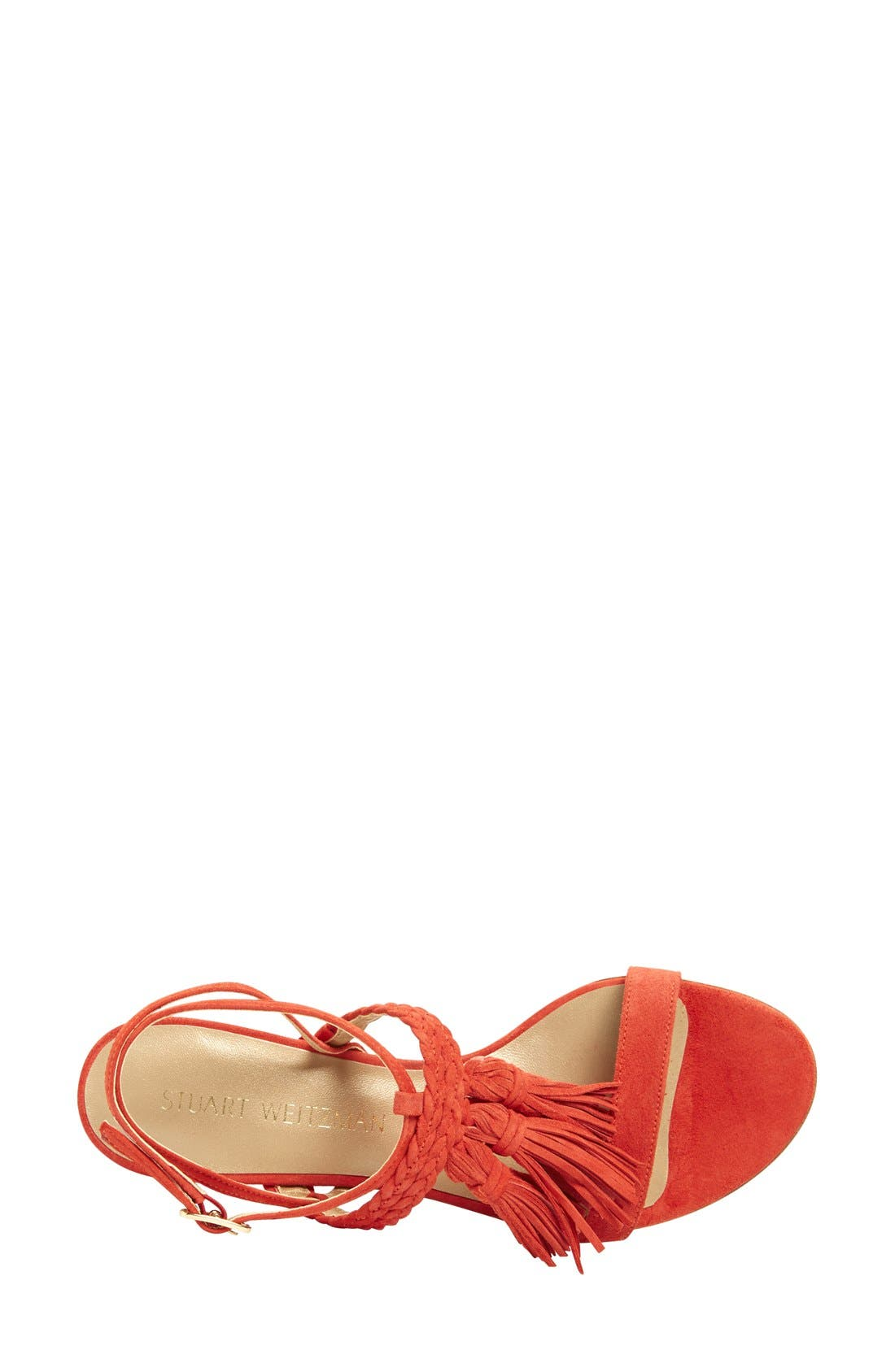 Alternate Image 4  - Stuart Weitzman 'Tasselmania' Strappy Sandal (Women)