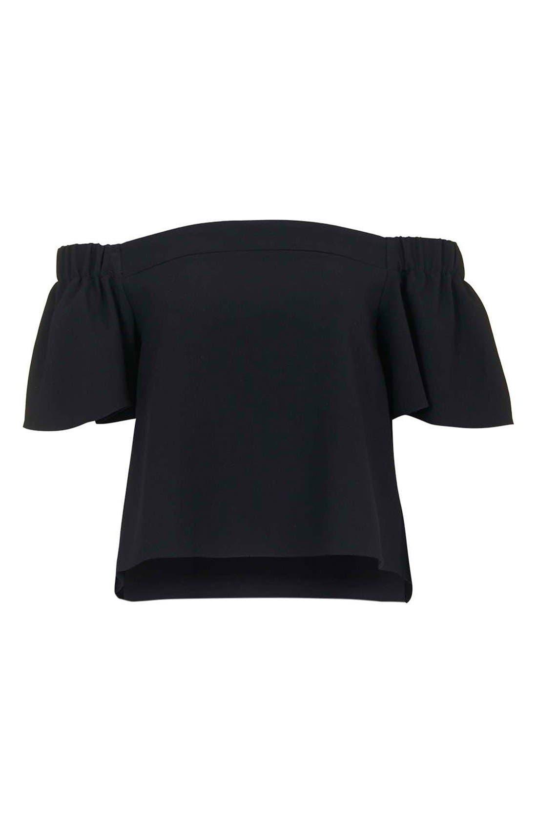 Alternate Image 5  - Topshop Structured Bardot Top