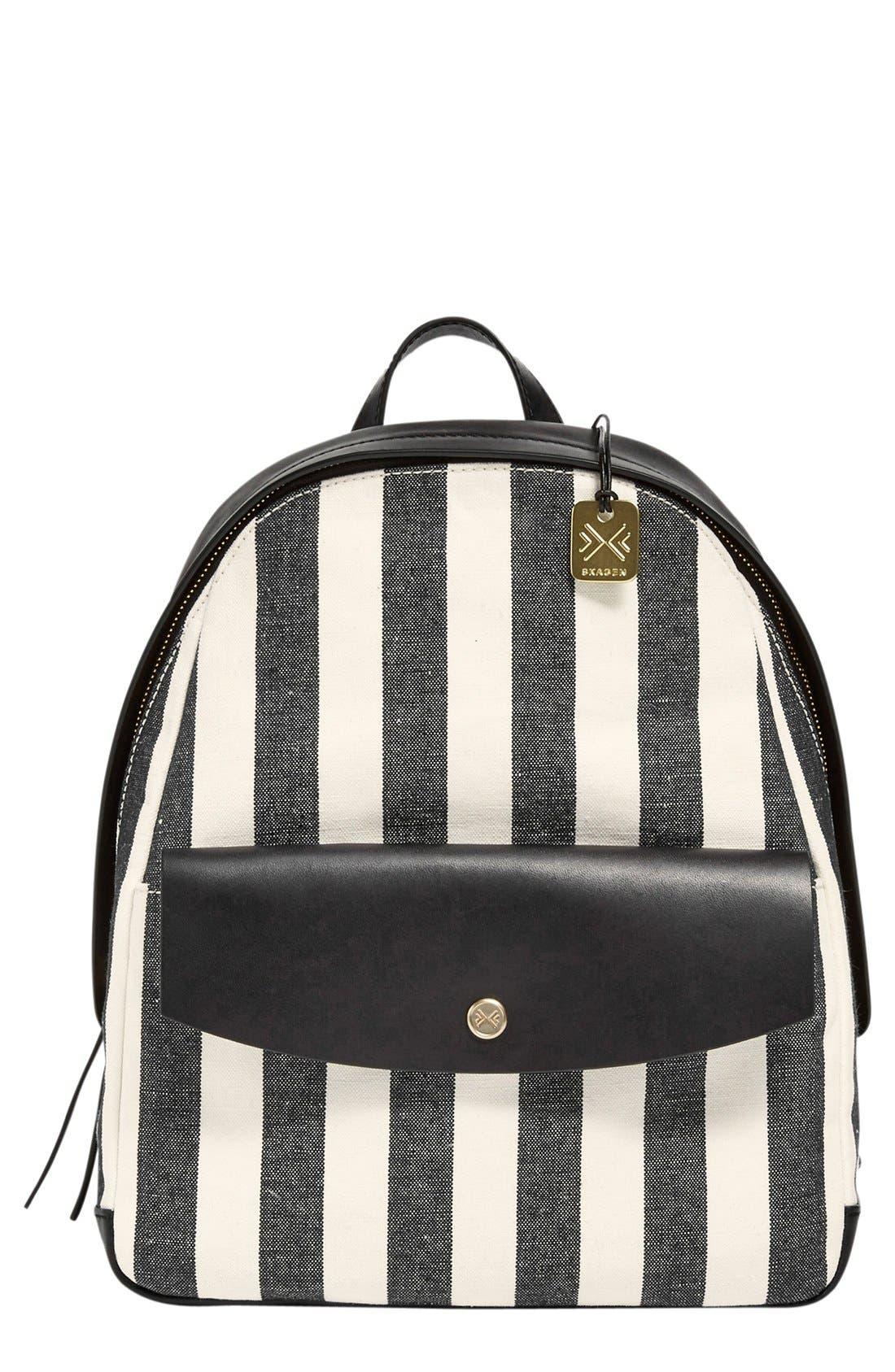 Main Image - Skagen 'Aften' Stripe Canvas Backpack