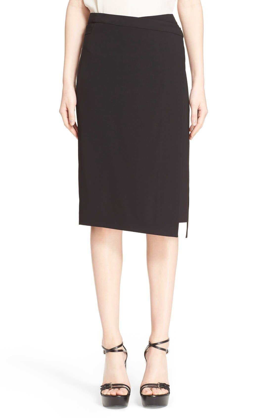 Main Image - Michael Kors Belted Wool Wrap Skirt