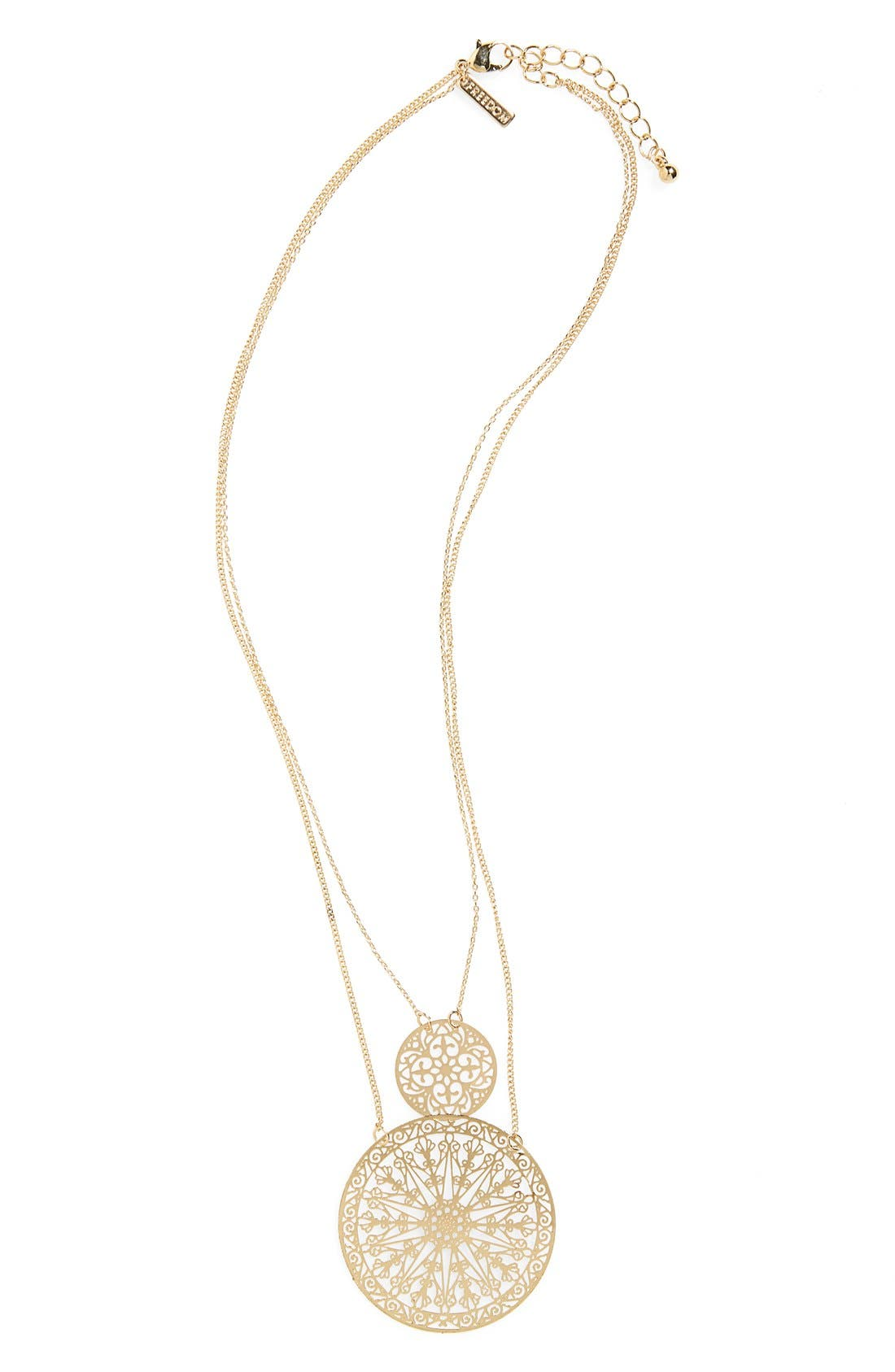 Alternate Image 1 Selected - Topshop Cutout Pendant Layering Necklace