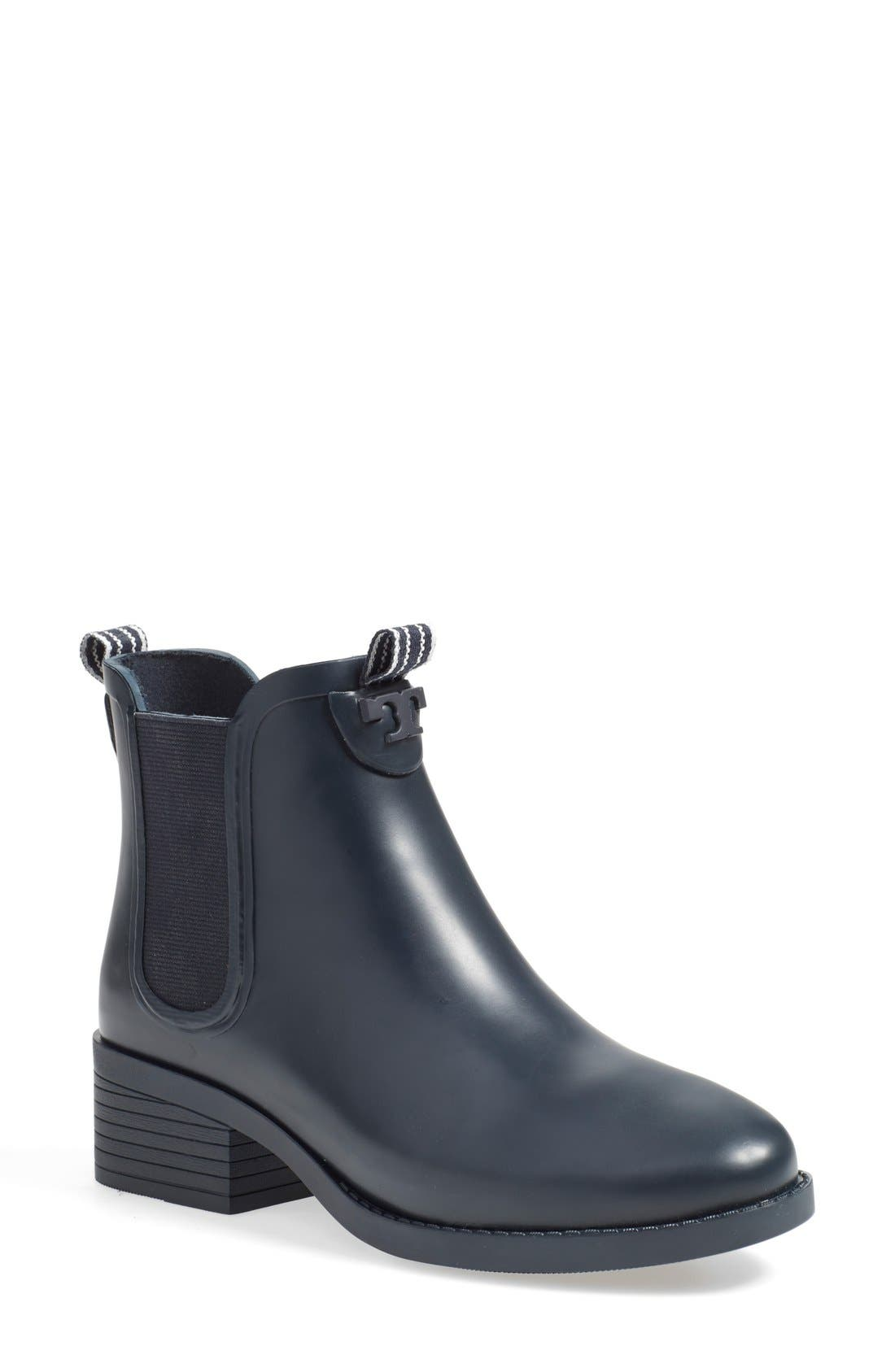 Alternate Image 1 Selected - Tory Burch Chelsea Rain Boot (Women)