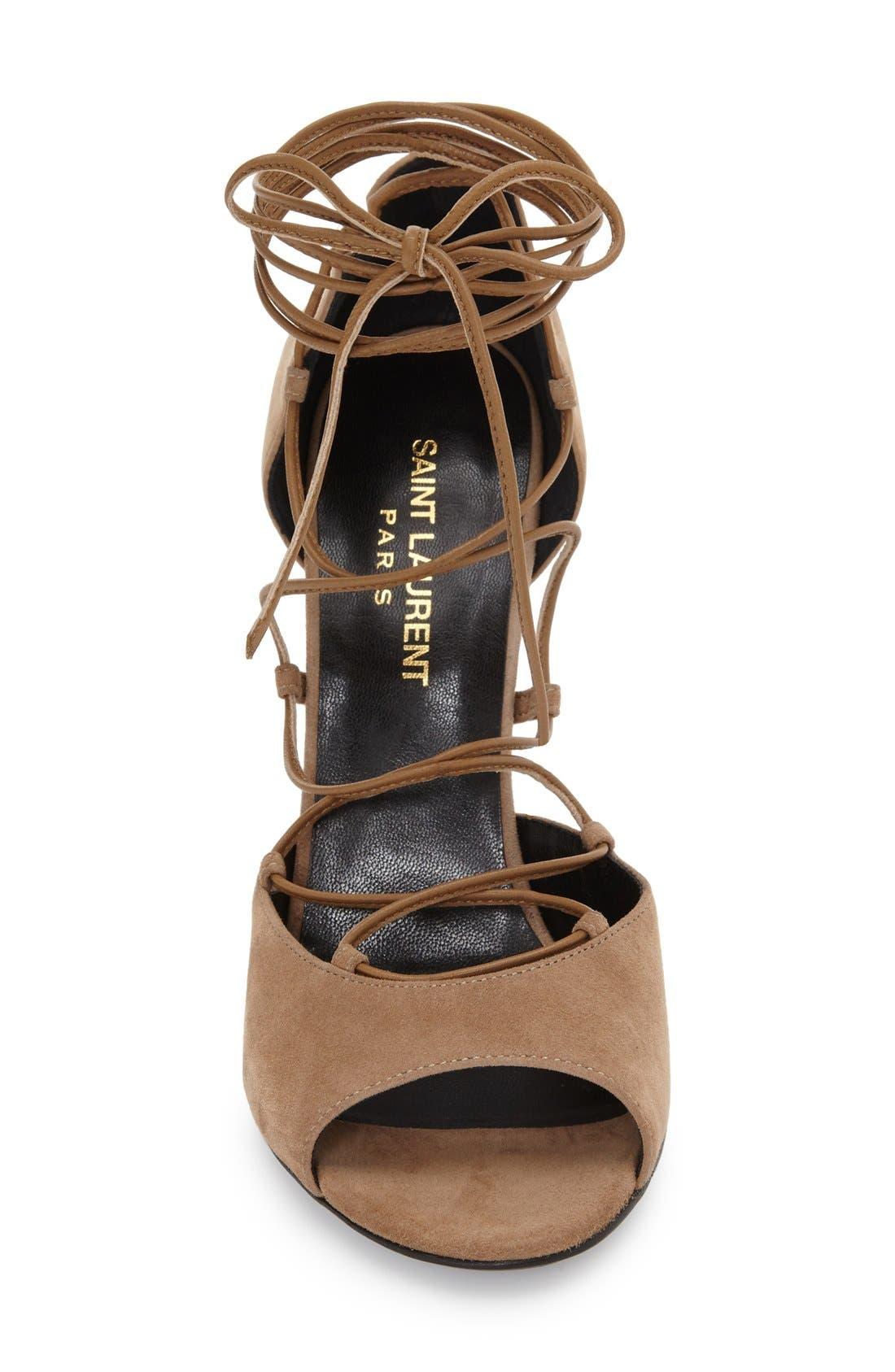 Alternate Image 3  - Saint Laurent 'Kate' Lace-Up Sandal (Women)