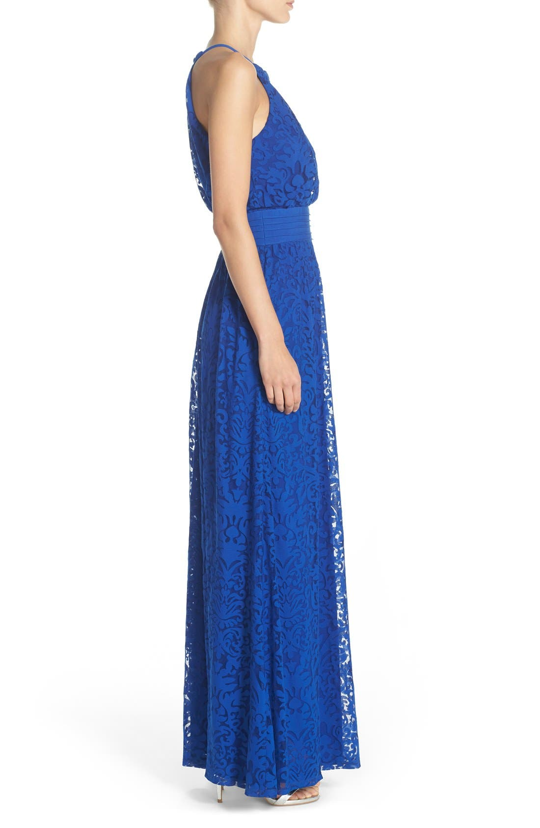 Alternate Image 4  - Maggy London Lace Halter Maxi Dress