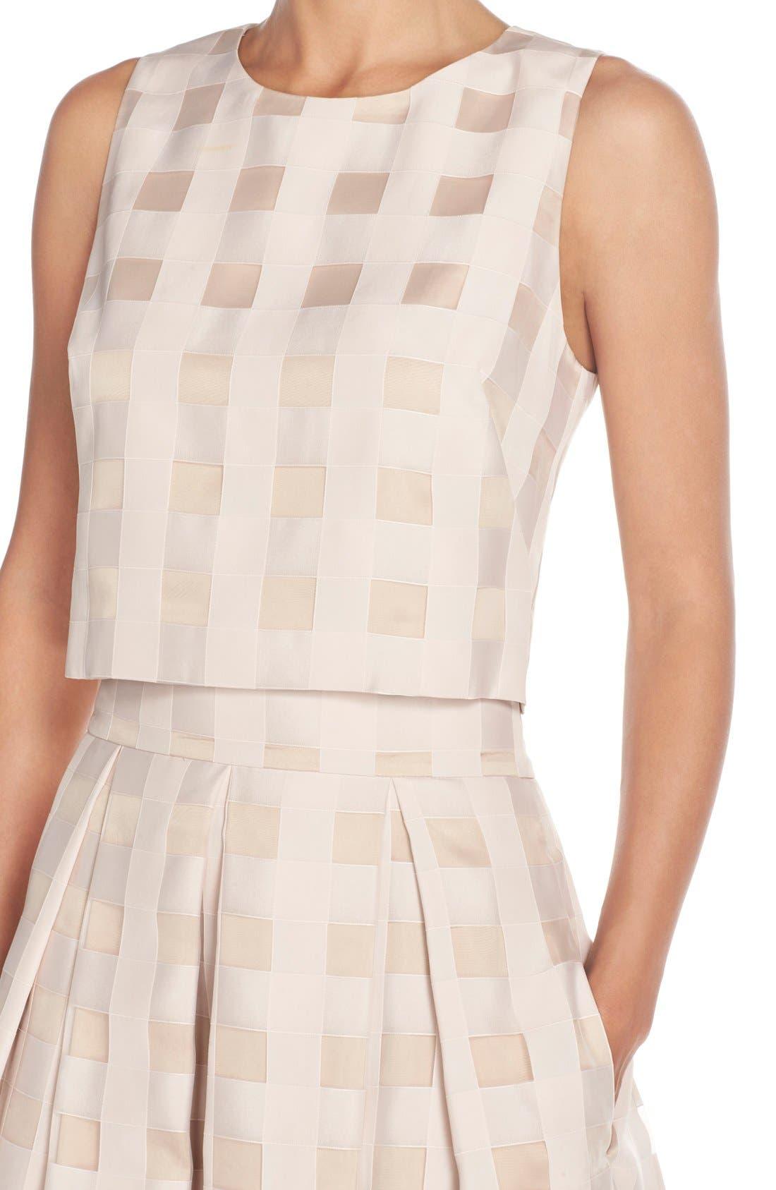 Alternate Image 4  - Eliza J Check Satin Two-Piece Dress