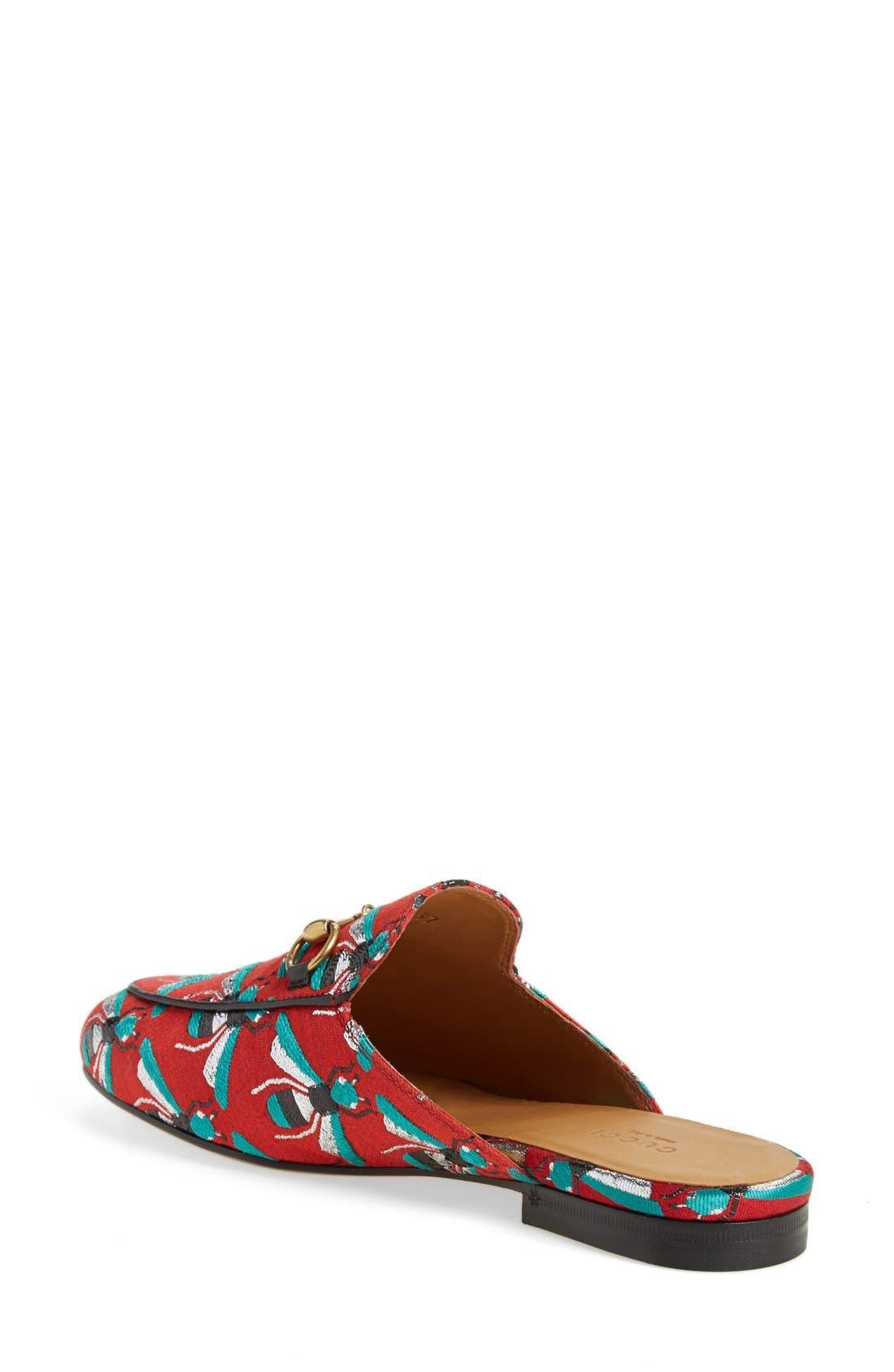 Alternate Image 2  - Gucci 'Princetown' Print Mule Loafer (Women)