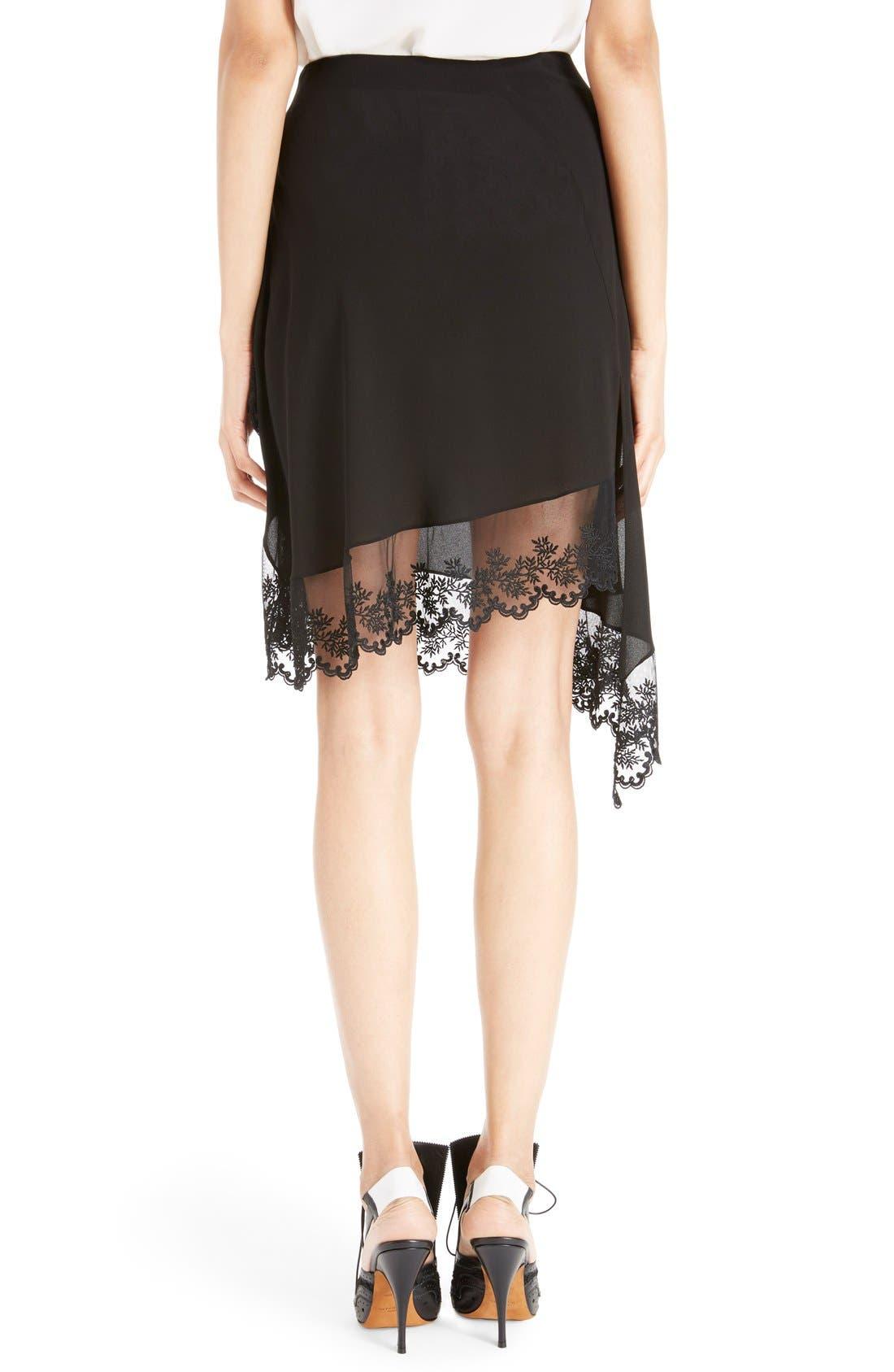 Alternate Image 2  - Givenchy Scalloped Lace & Silk Asymmetrical Skirt