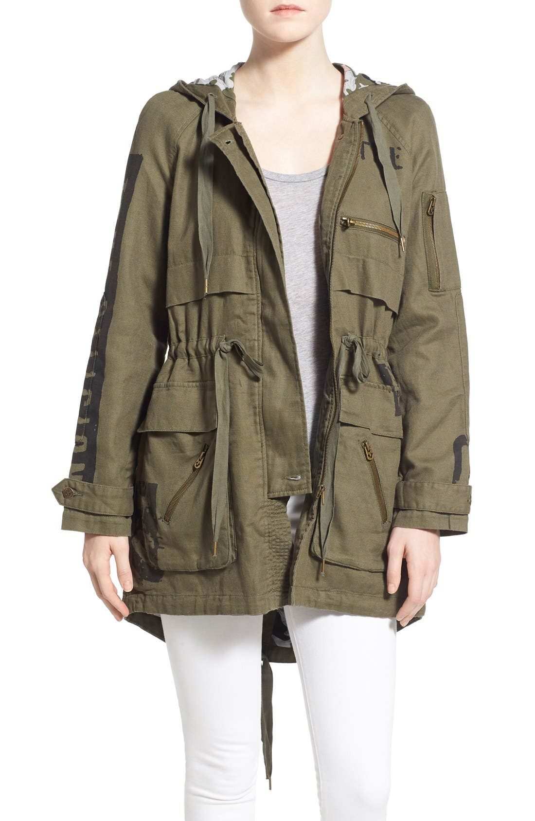 Alternate Image 1 Selected - True Religion Brand Jeans Military Parka