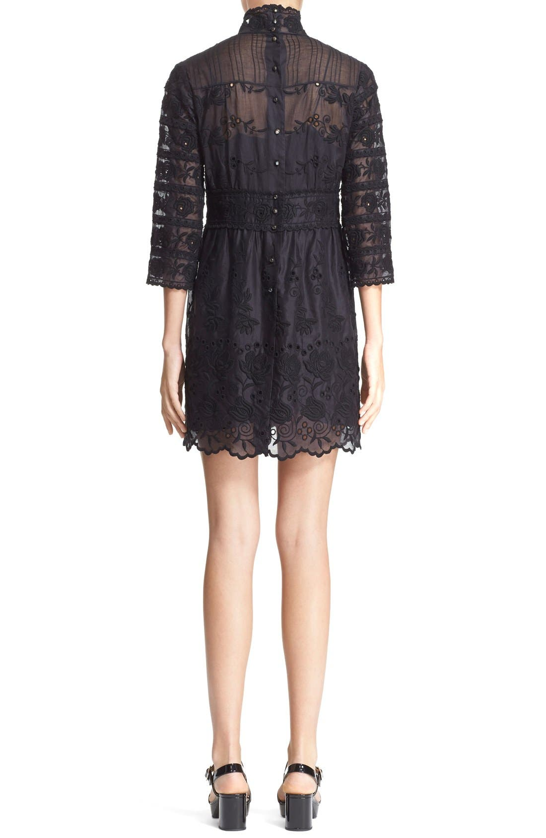 Alternate Image 2  - MARC JACOBS Broderie Anglaise Cotton Voile Dress