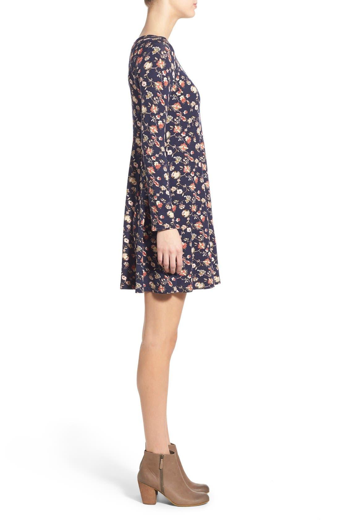 Alternate Image 3  - Lush 'Lauren' Long Sleeve Shift Dress