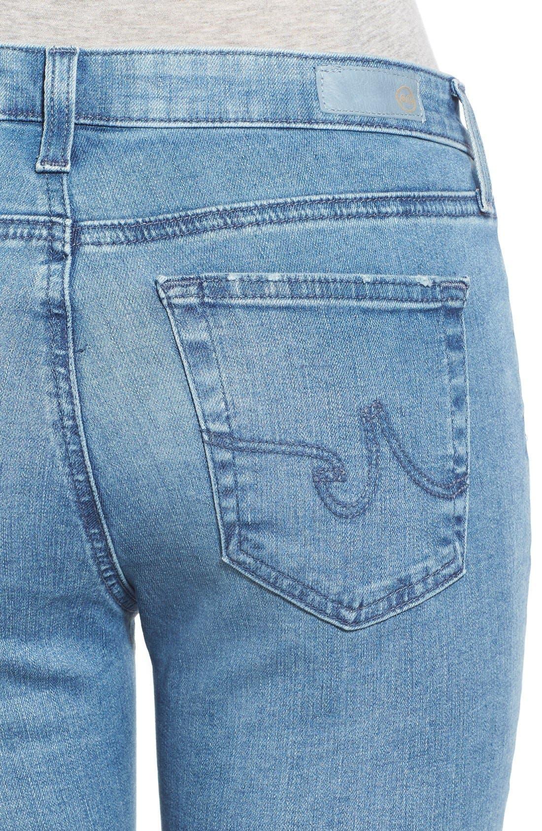 Alternate Image 4  - AG 'Middi' Ankle Skinny Jeans (15 Year LiberatingBeat)