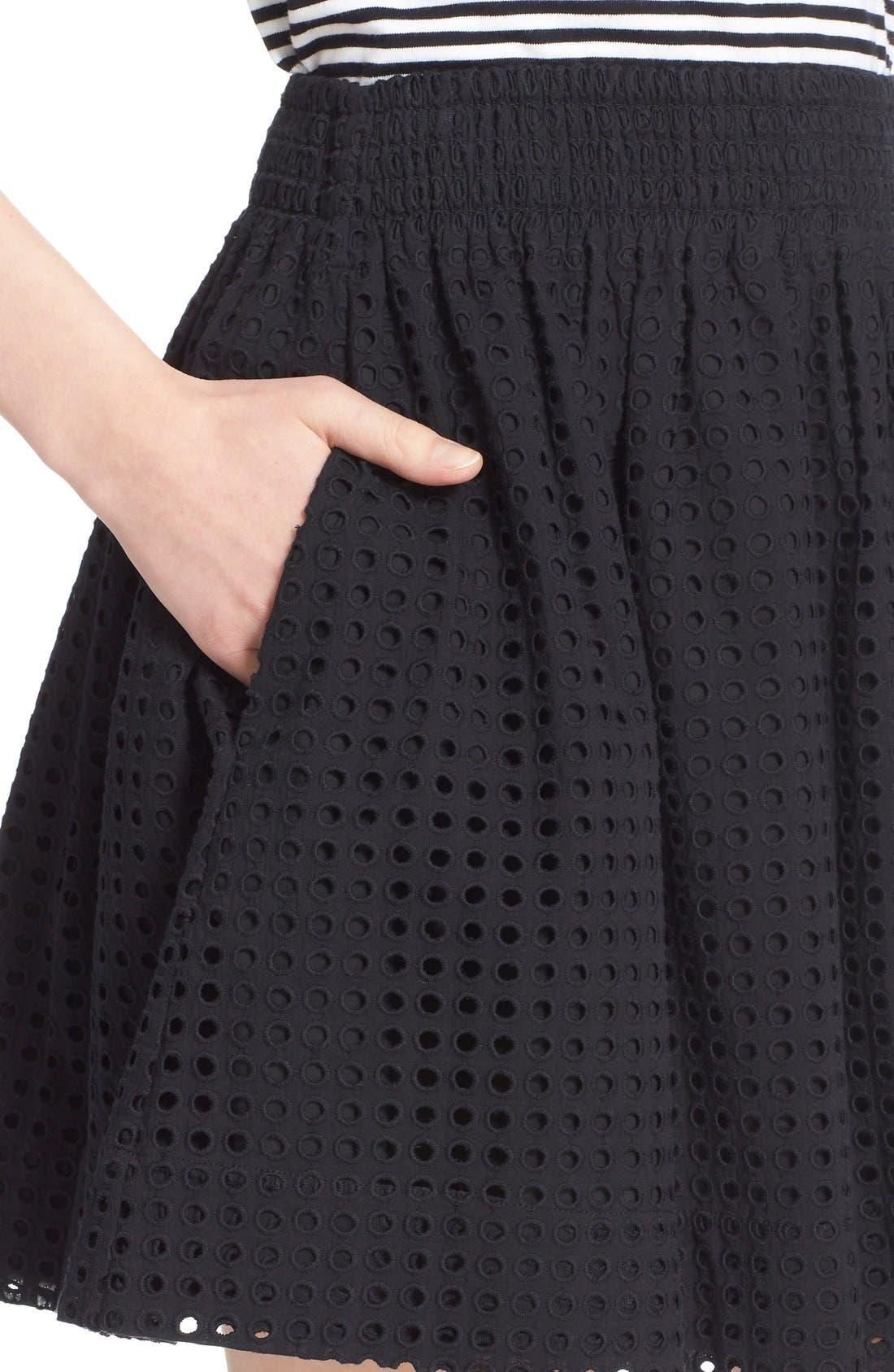 Alternate Image 4  - kate spade new york 'blaire' eyelet miniskirt