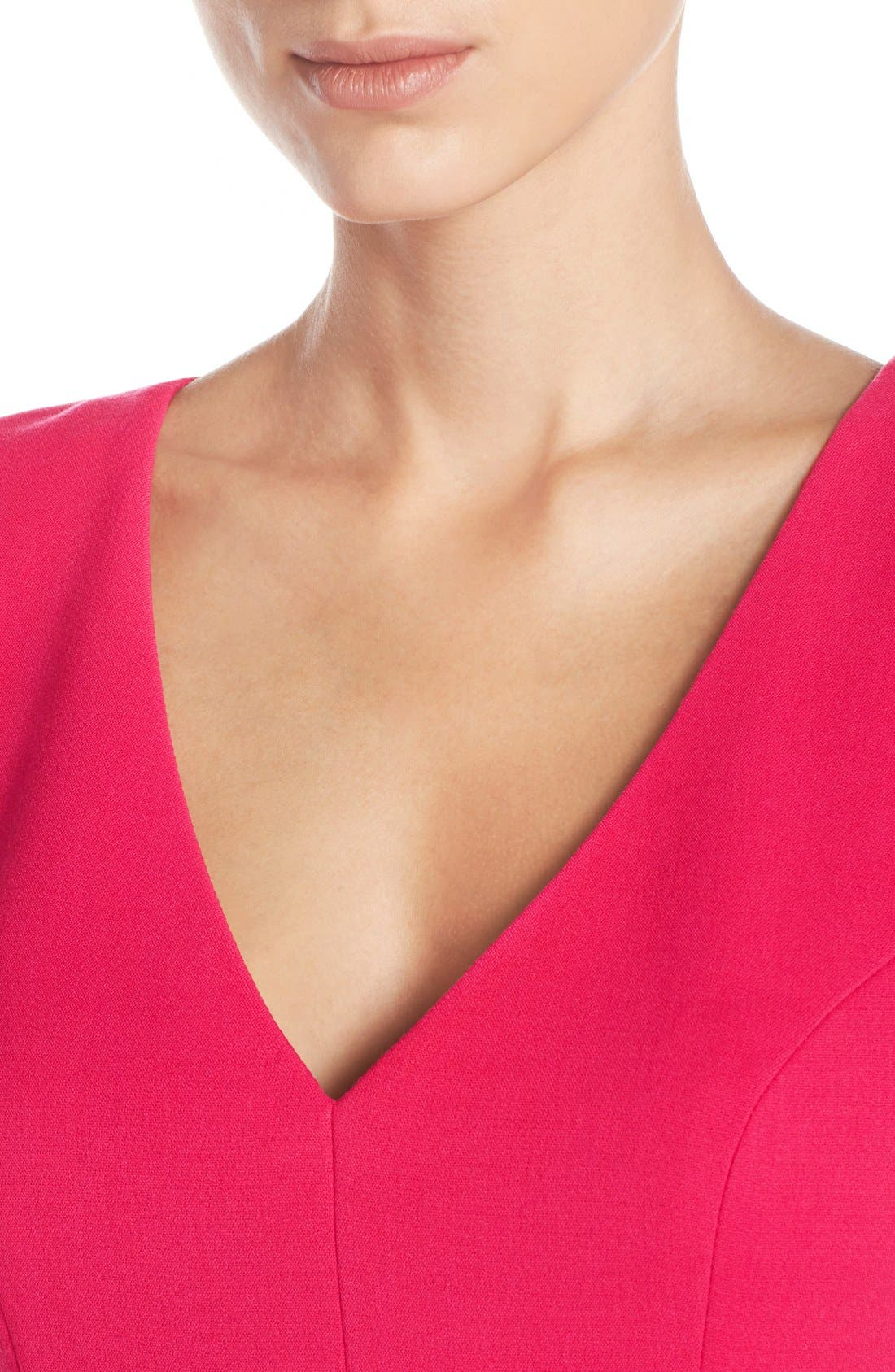 Alternate Image 5  - Eliza J Crepe Sheath Dress (Regular & Petite)