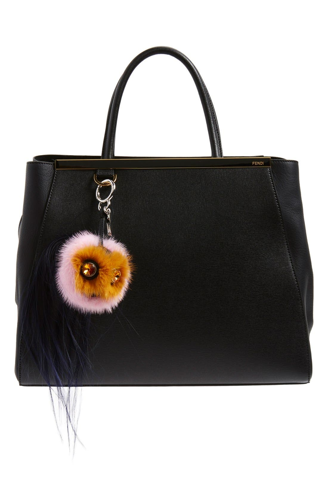Alternate Image 3  - Fendi 'Mini Qutweet Monster' Genuine Mink & Goat Fur Bag Charm