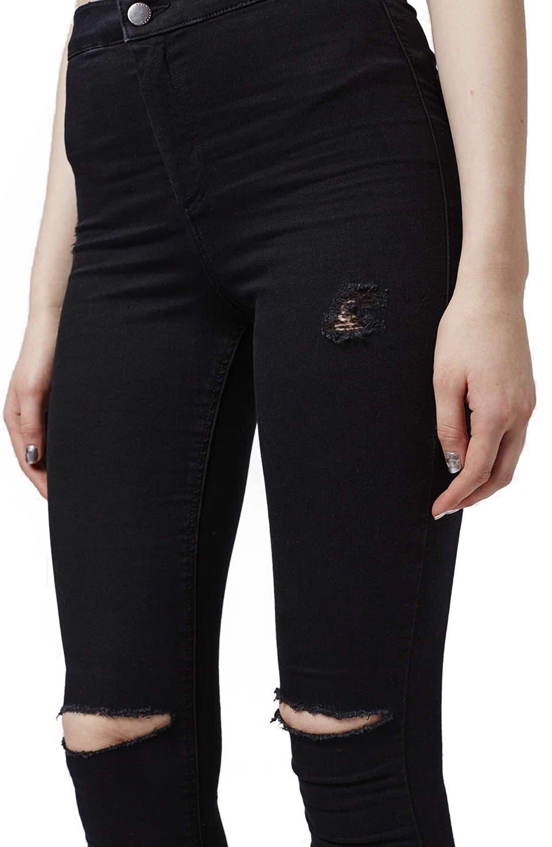 Alternate Image 5  - Topshop Moto 'Joni' Ripped Skinny Jeans (Petite)