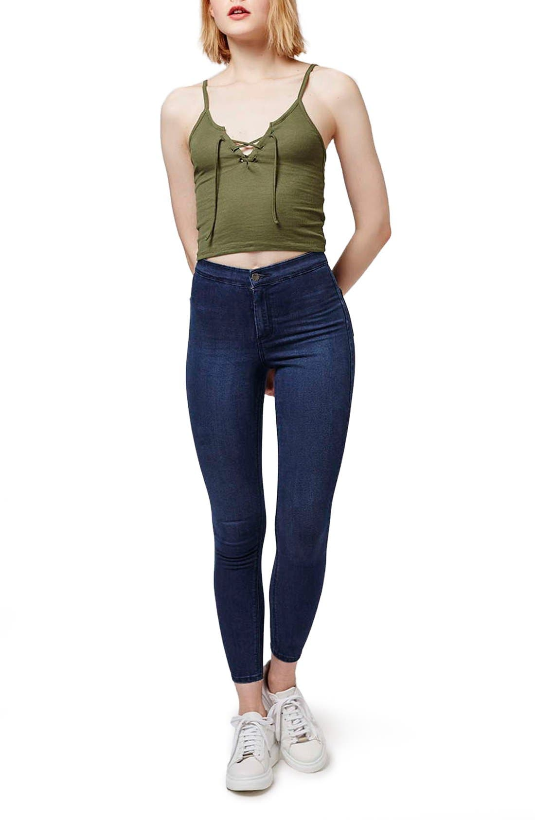 Alternate Image 2  - Topshop 'Joni' Crop Super Skinny Jeans (Petite)