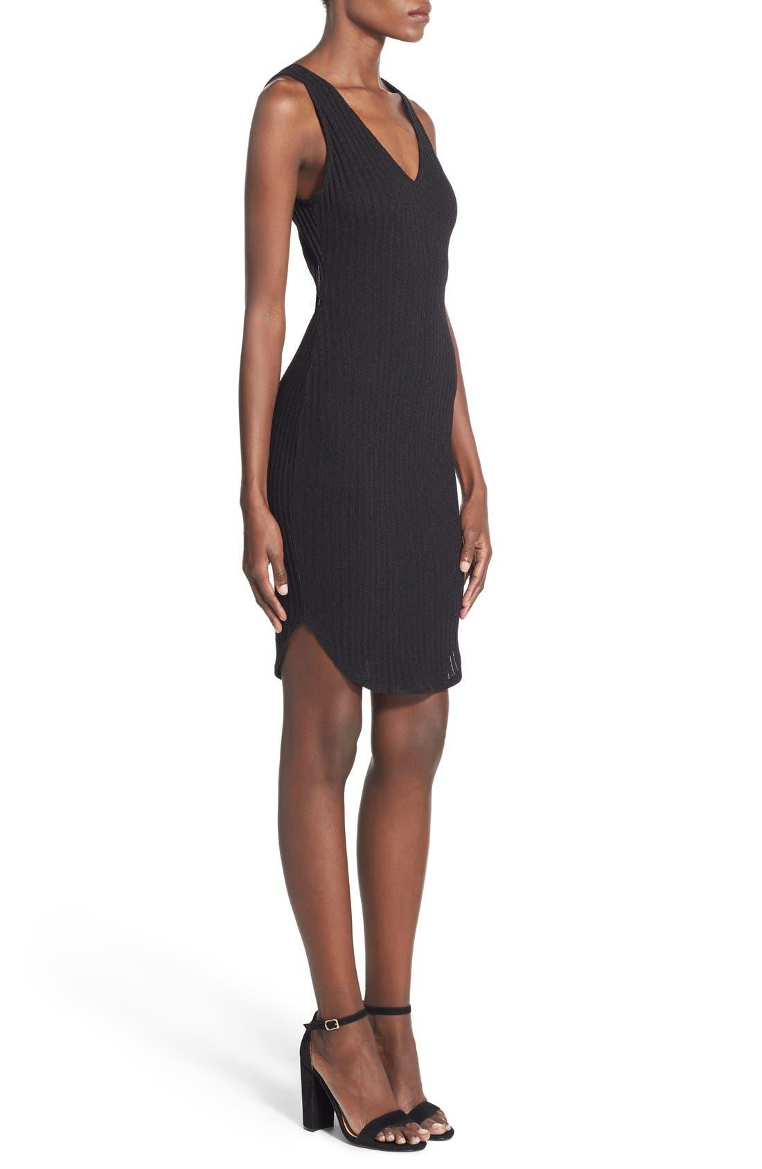 Alternate Image 3  - Lush Ribbed Body-Con Dress
