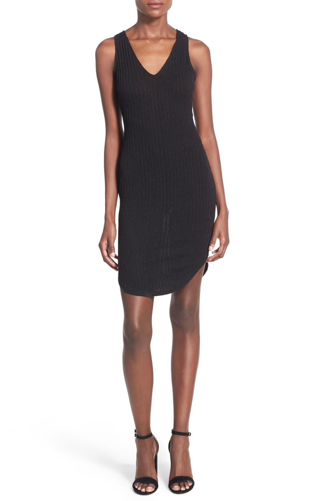 Alternate Image 1 Selected - Lush Ribbed Body-Con Dress