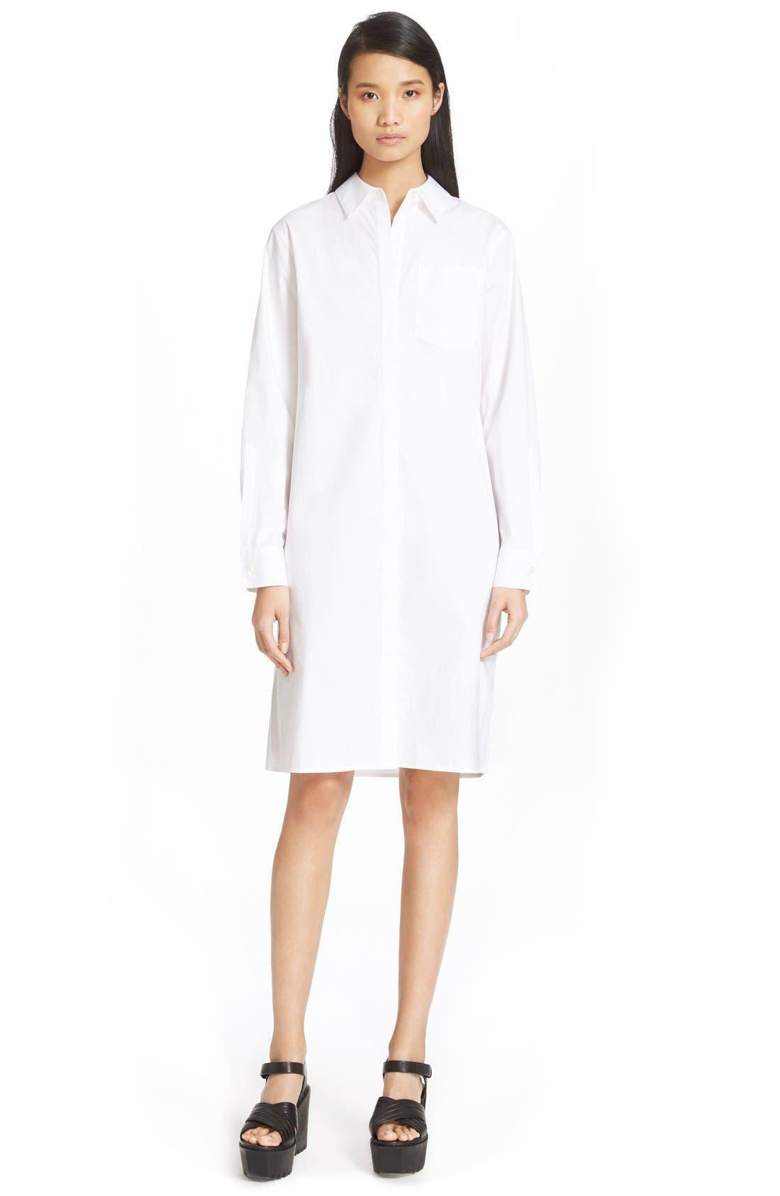Alternate Image 2  - DKNY Long Sleeve Shirtdress