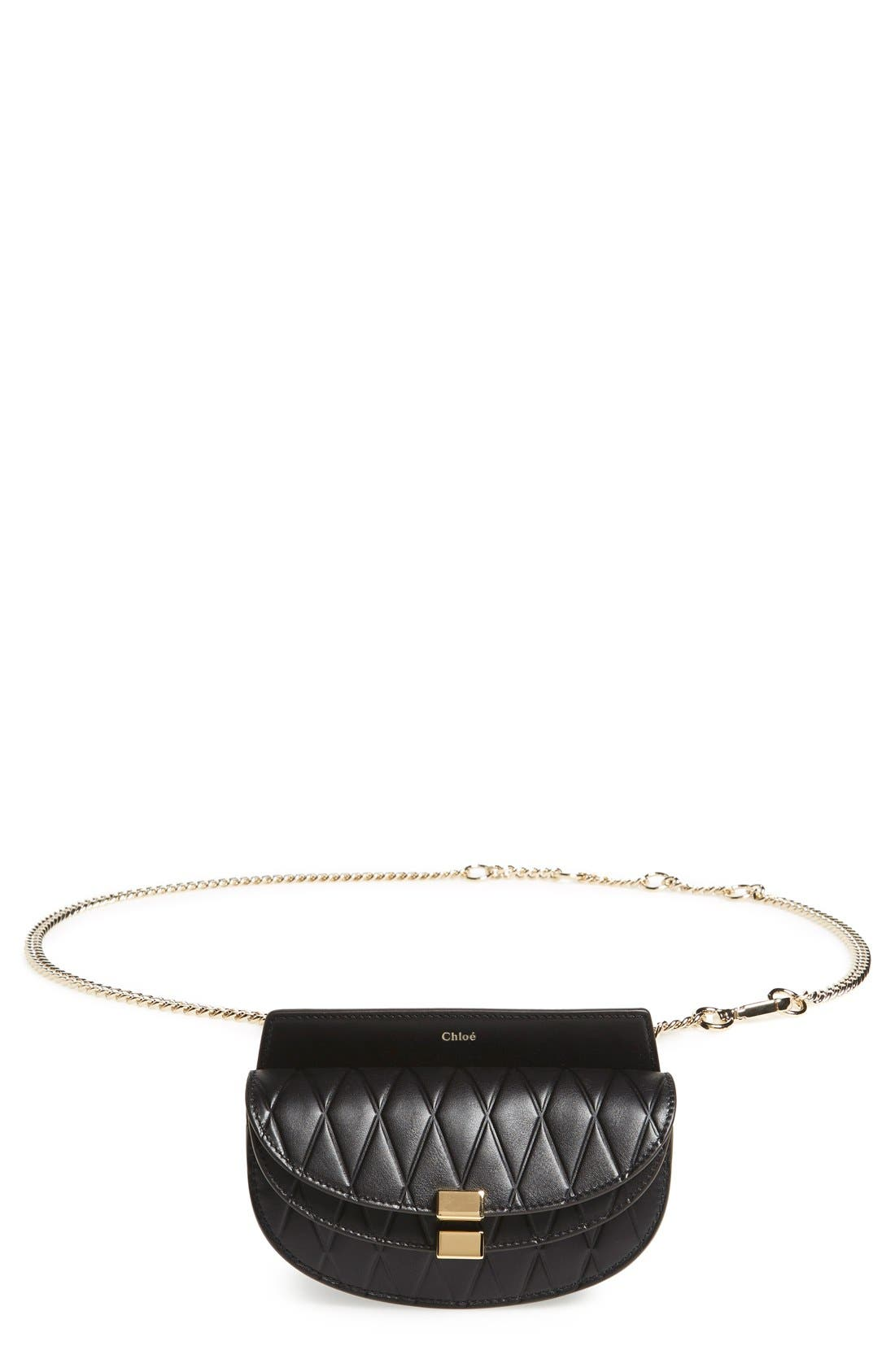 Alternate Image 6  - Chloé 'Nano Georgia' Embossed Calfskin Leather Fanny Pack