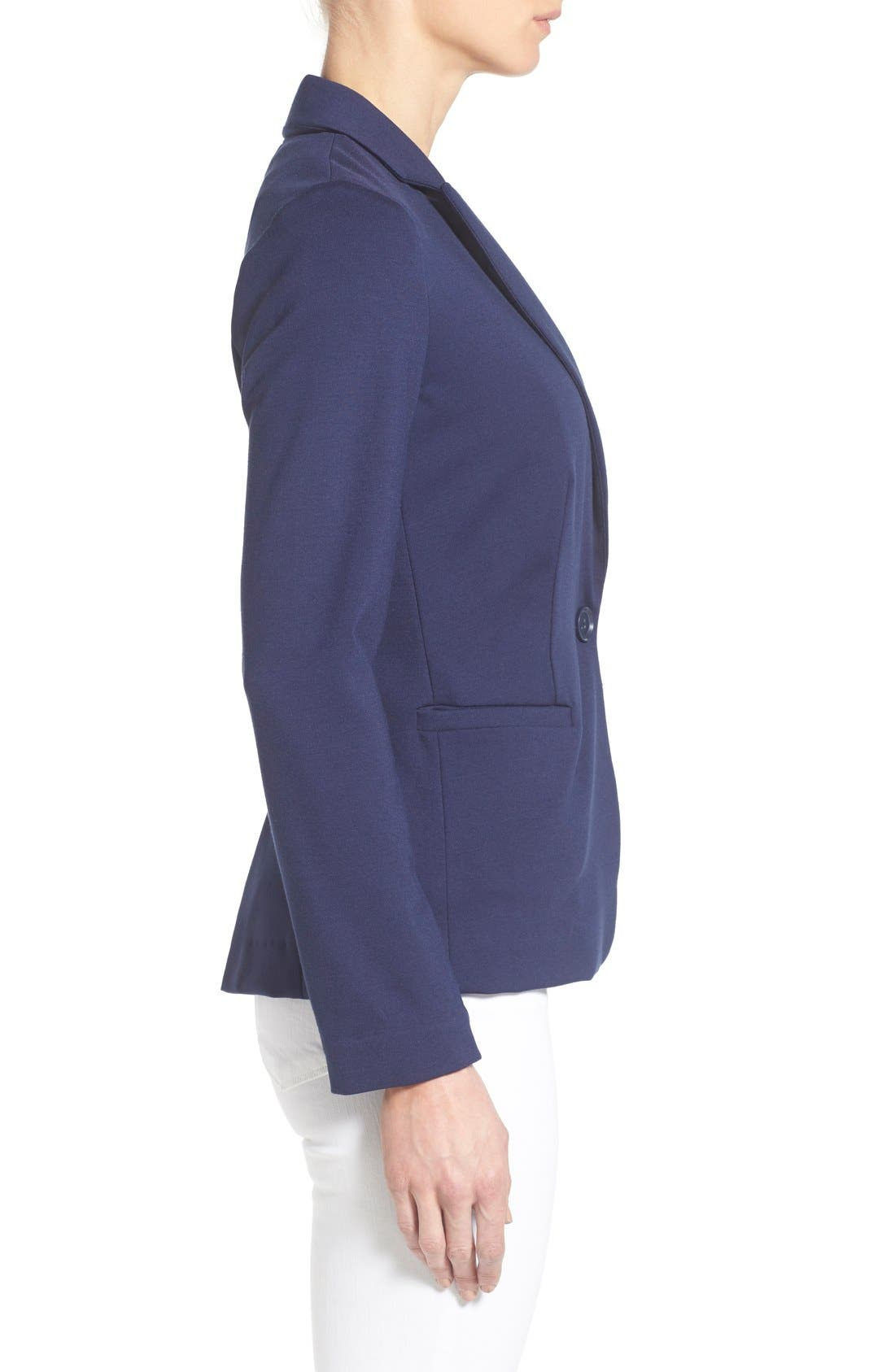 Alternate Image 3  - Olivia Moon Knit Blazer (Regular & Petite)