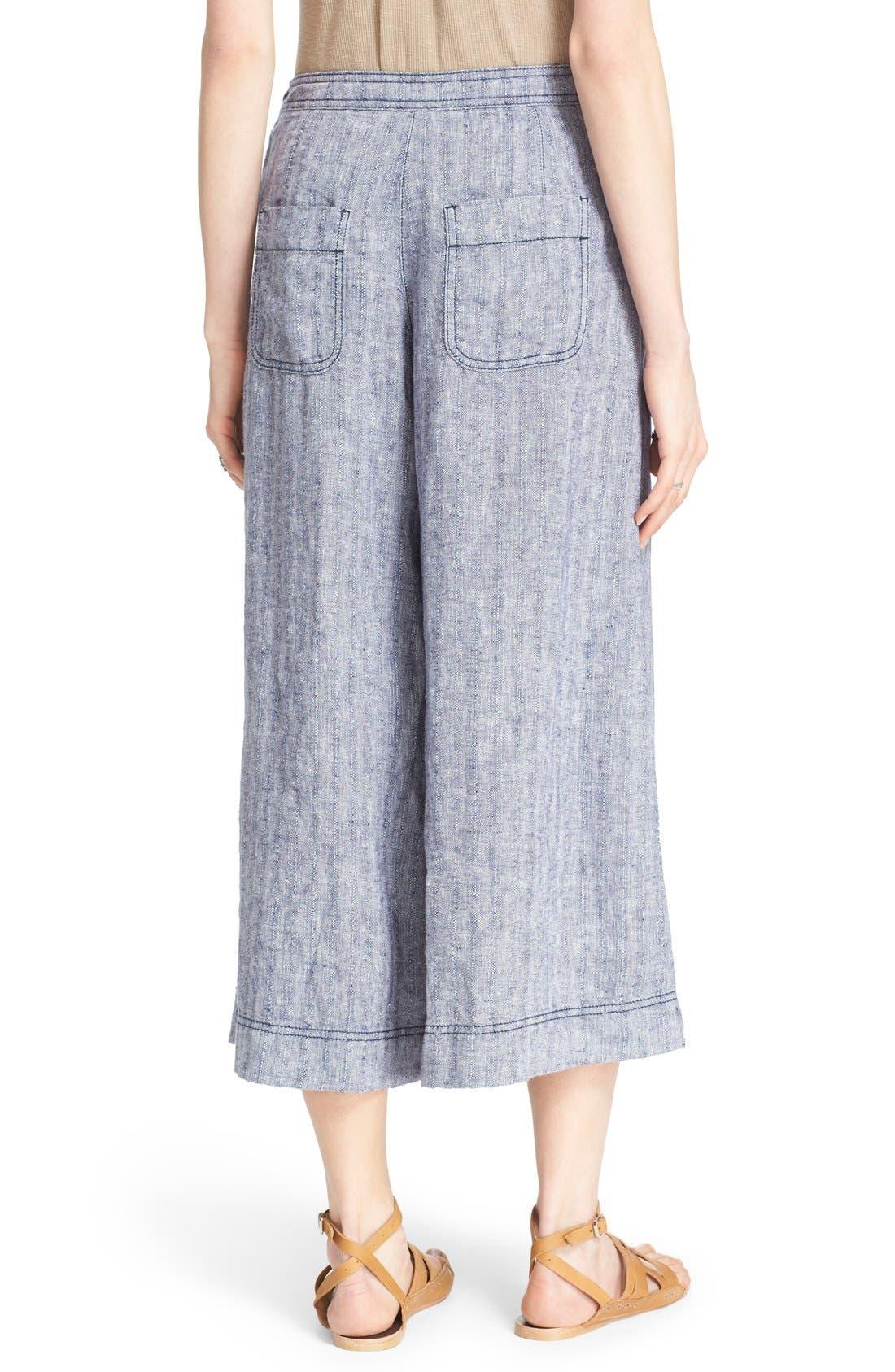 Alternate Image 2  - Free People 'Sani' Linen Culottes