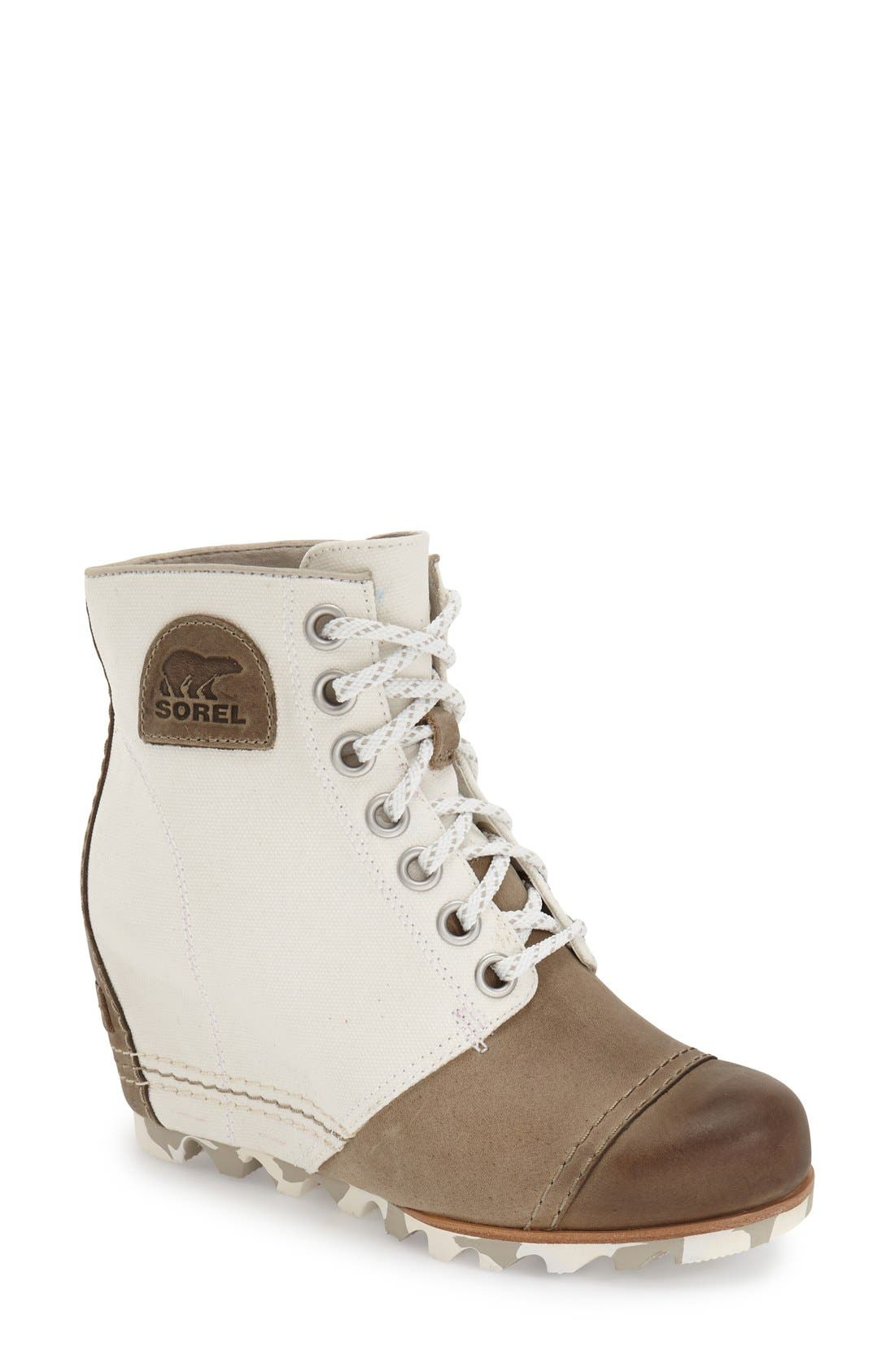 Main Image - SOREL '1964 Premium Canvas' Waterproof Wedge Bootie (Women)