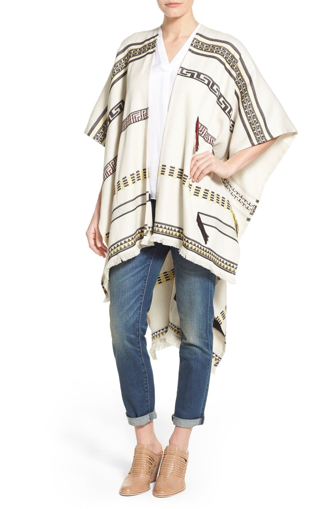 Alternate Image 1 Selected - Tory Burch Convertible Jacquard Poncho