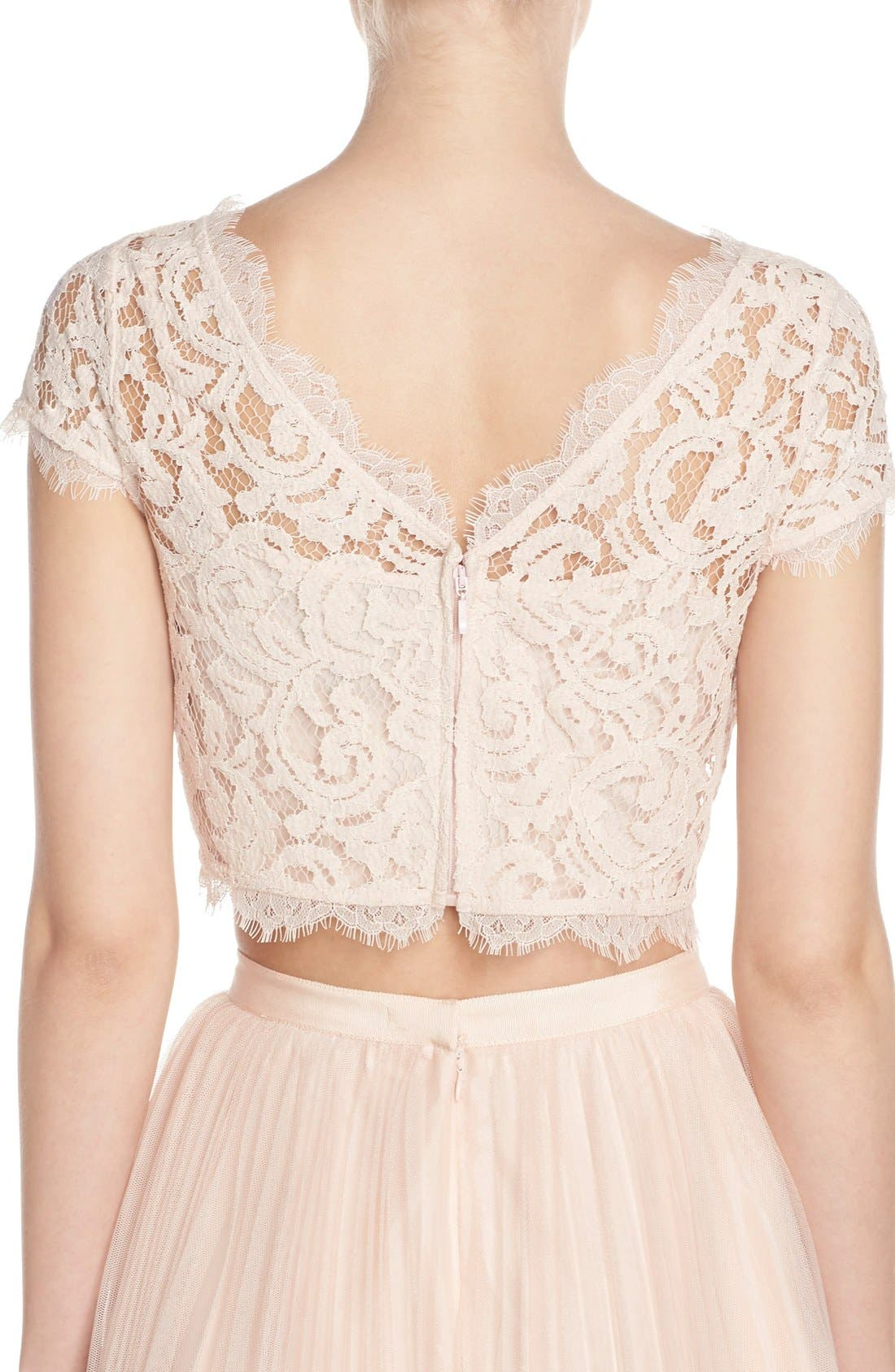 Alternate Image 2  - Adrianna Papell Lace Crop Top