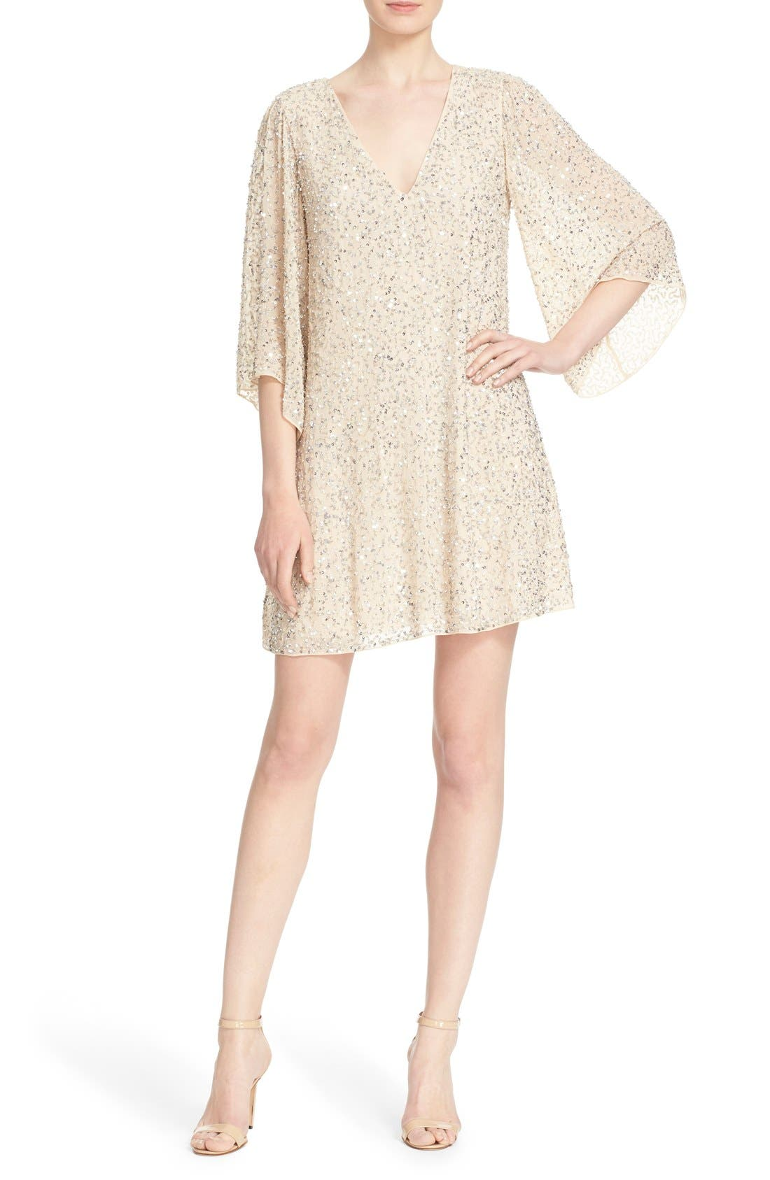 Main Image - Alice + Olivia 'Shary' Sequin Shift Dress