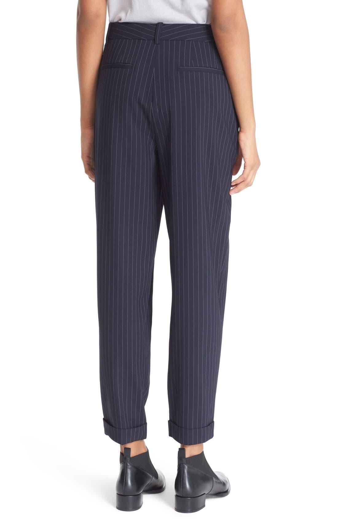 Alternate Image 3  - DKNY Pinstripe Cuff Pants