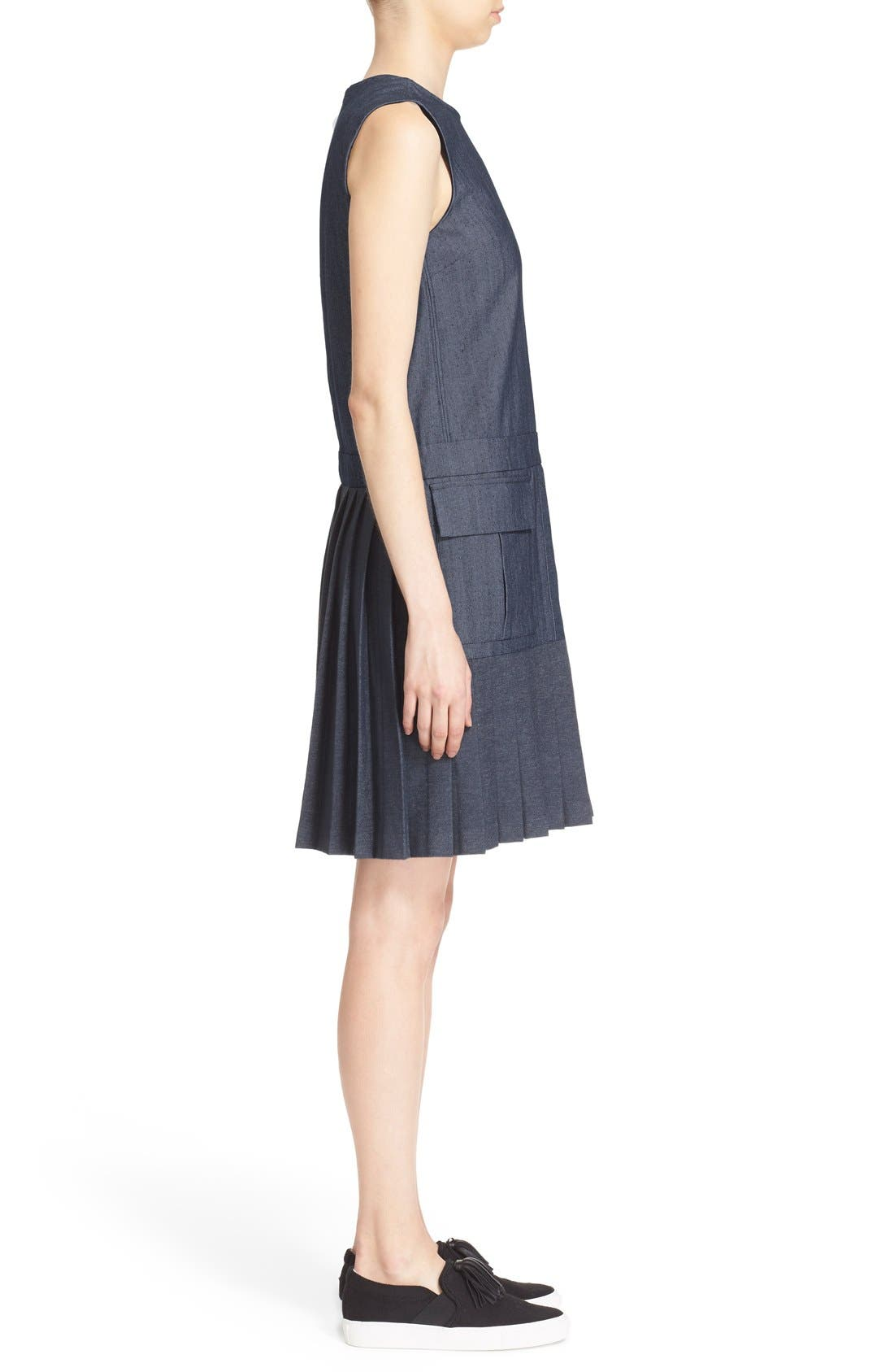 Alternate Image 3  - MSGM Pleat Bottom Sleeveless Shift Dress