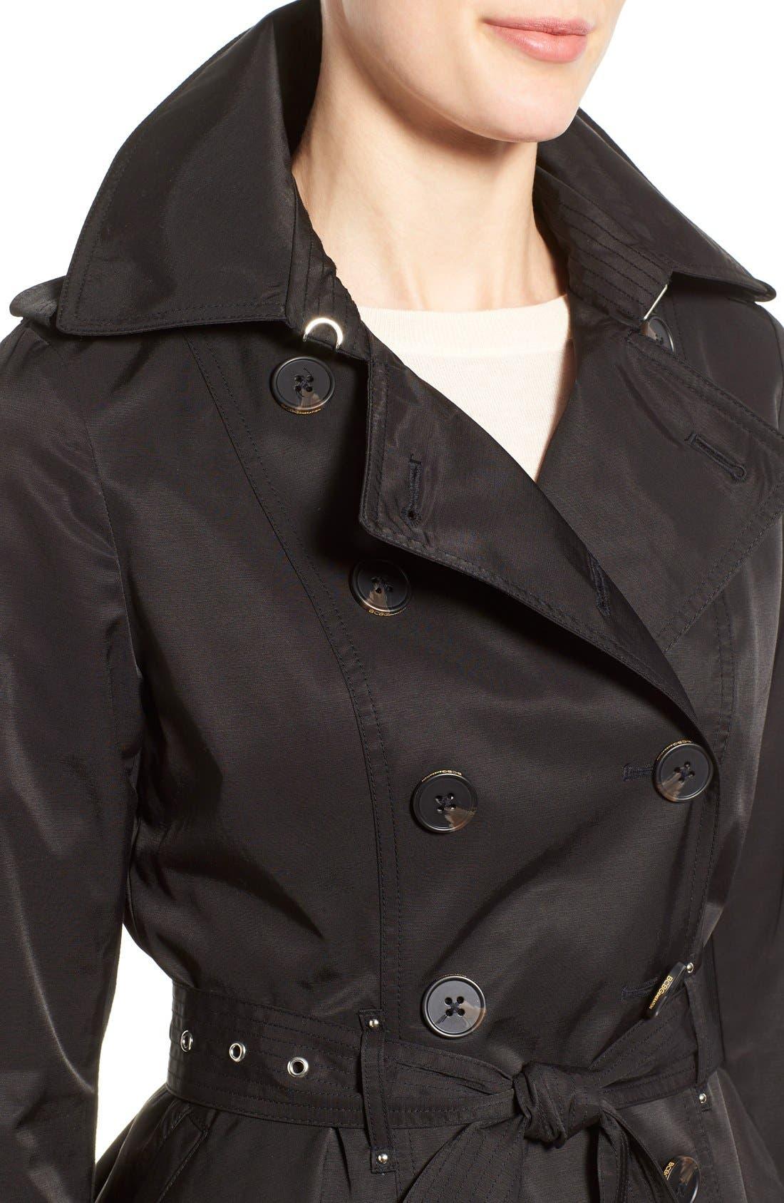Alternate Image 4  - BCBGeneration Short Double Breasted Skirted Trench Coat