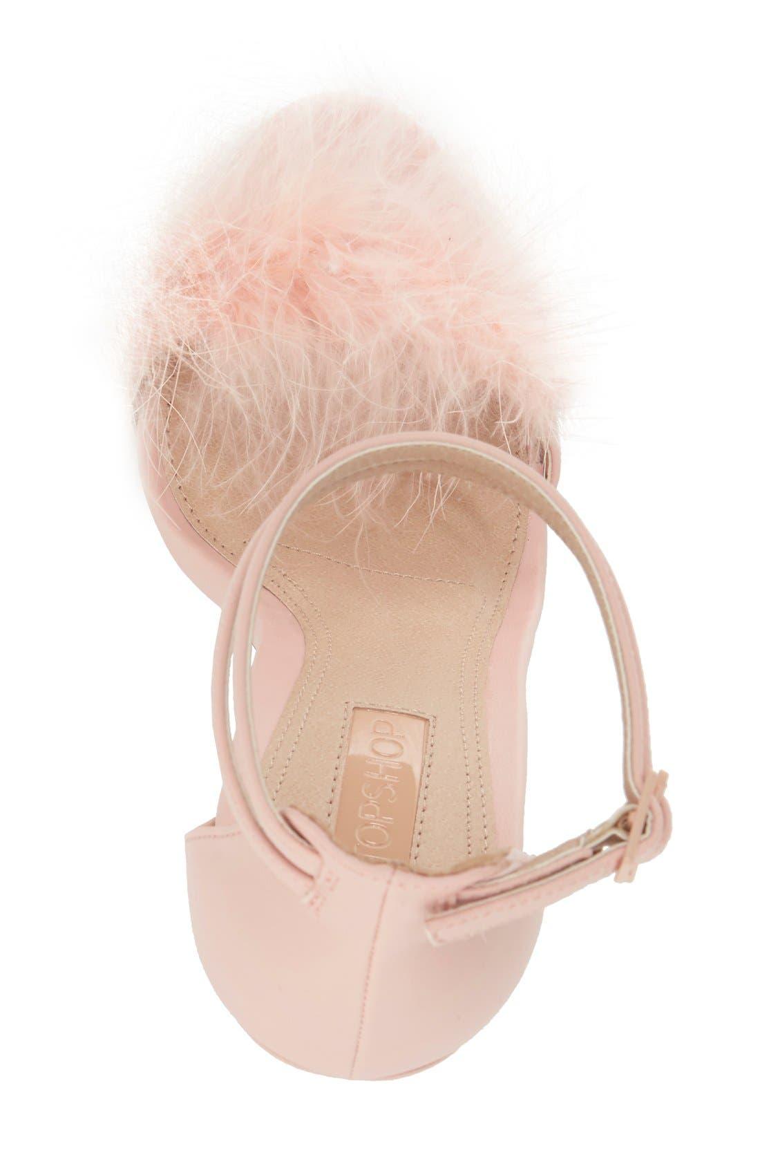 Alternate Image 3  - Topshop 'Reese' Feather Sandal (Women)