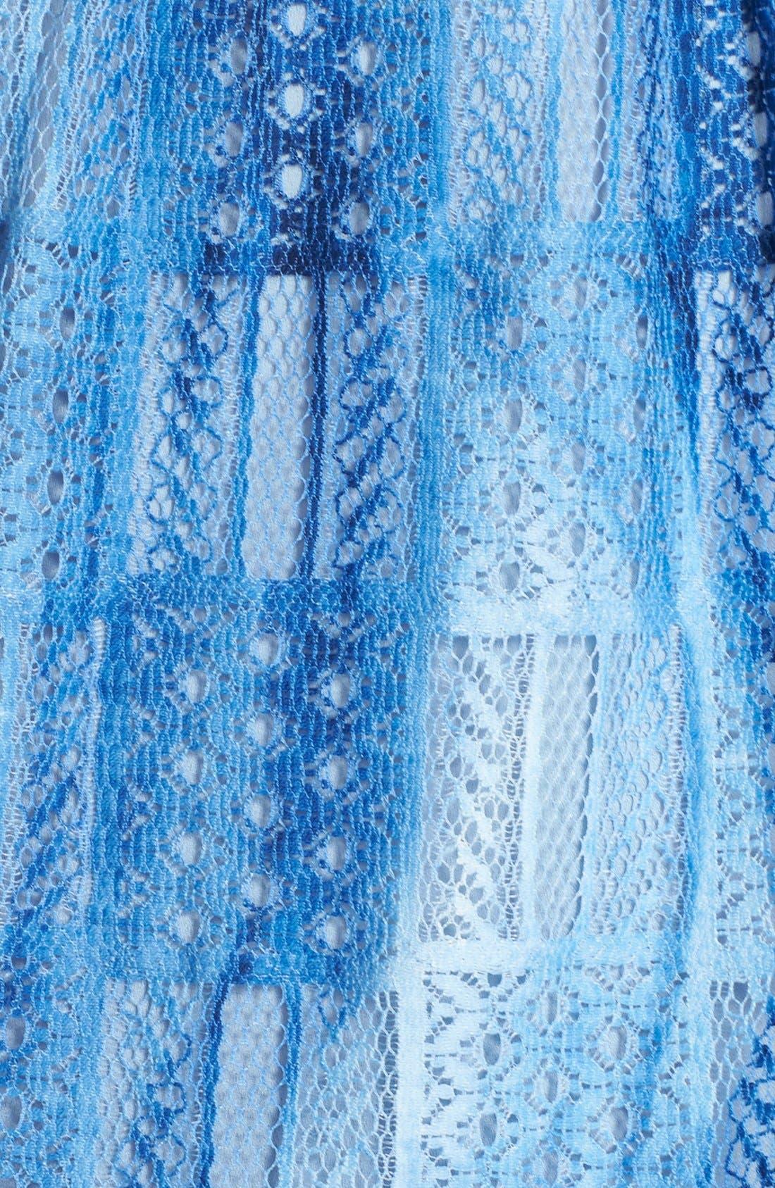 Alternate Image 6  - Betsey Johnson Cotton Blend Babydoll Dress