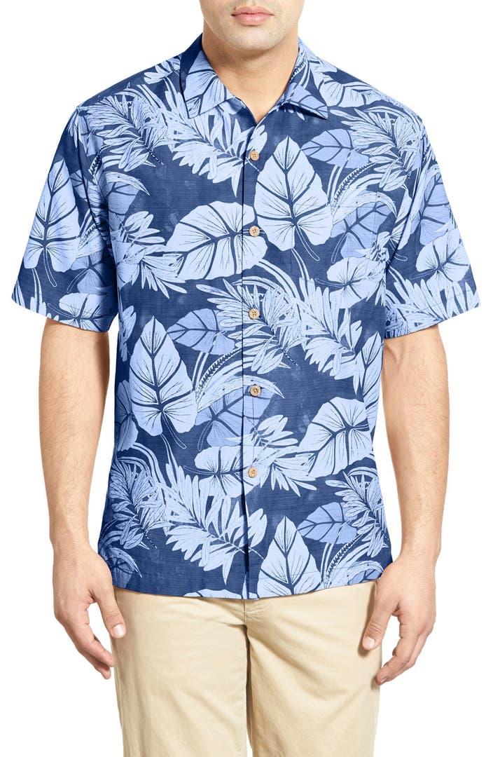 Tommy bahama 39 great barrier leaf 39 short sleeve camp shirt for Tommy bahama short sleeve silk camp shirt