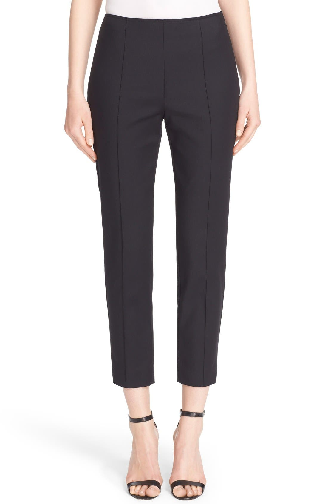 John Collection 'Alexa' Stretch Micro Ottoman Ankle Pants
