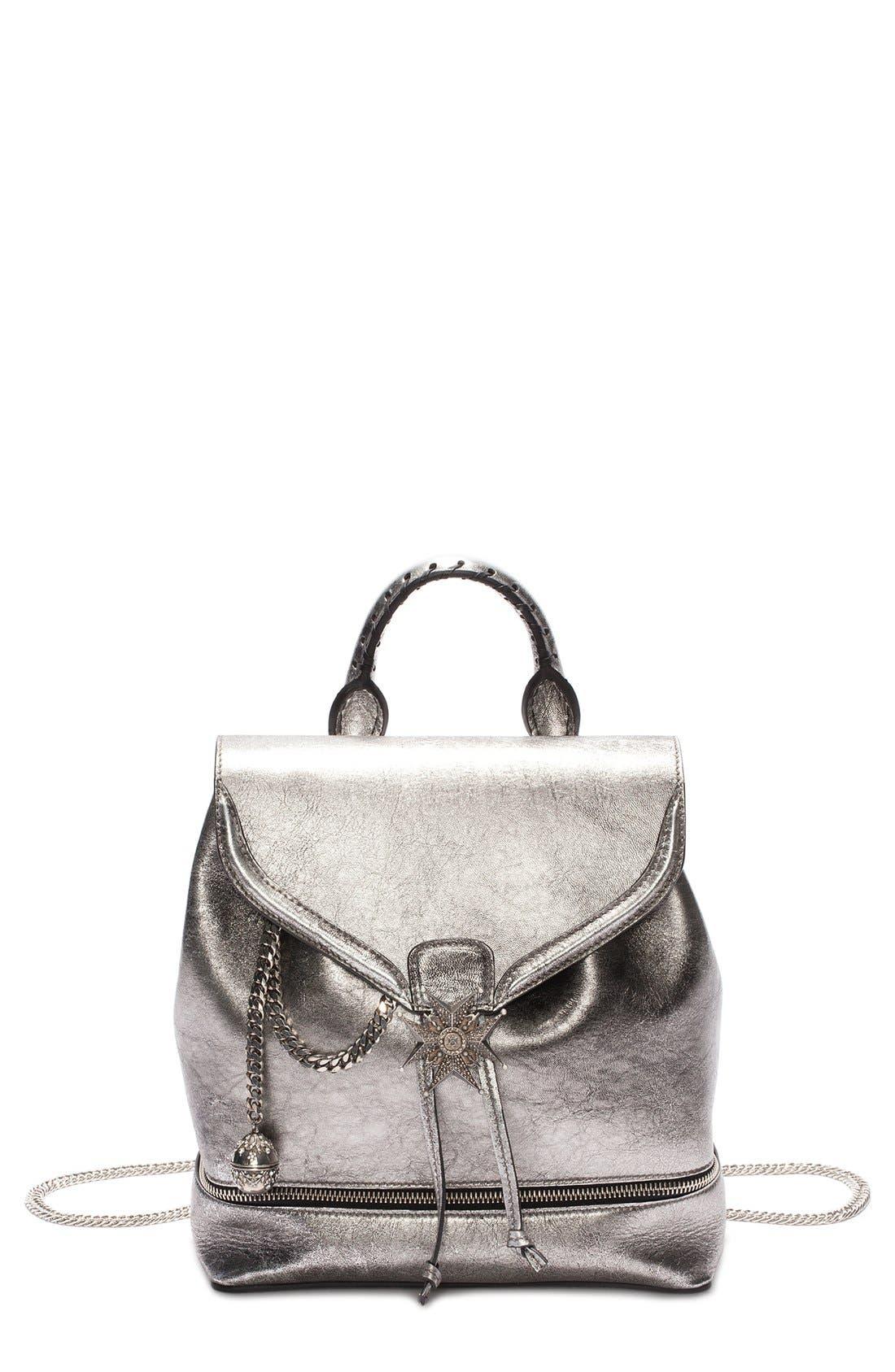 Alternate Image 1 Selected - Alexander McQueen 'Skull' Leather Backpack