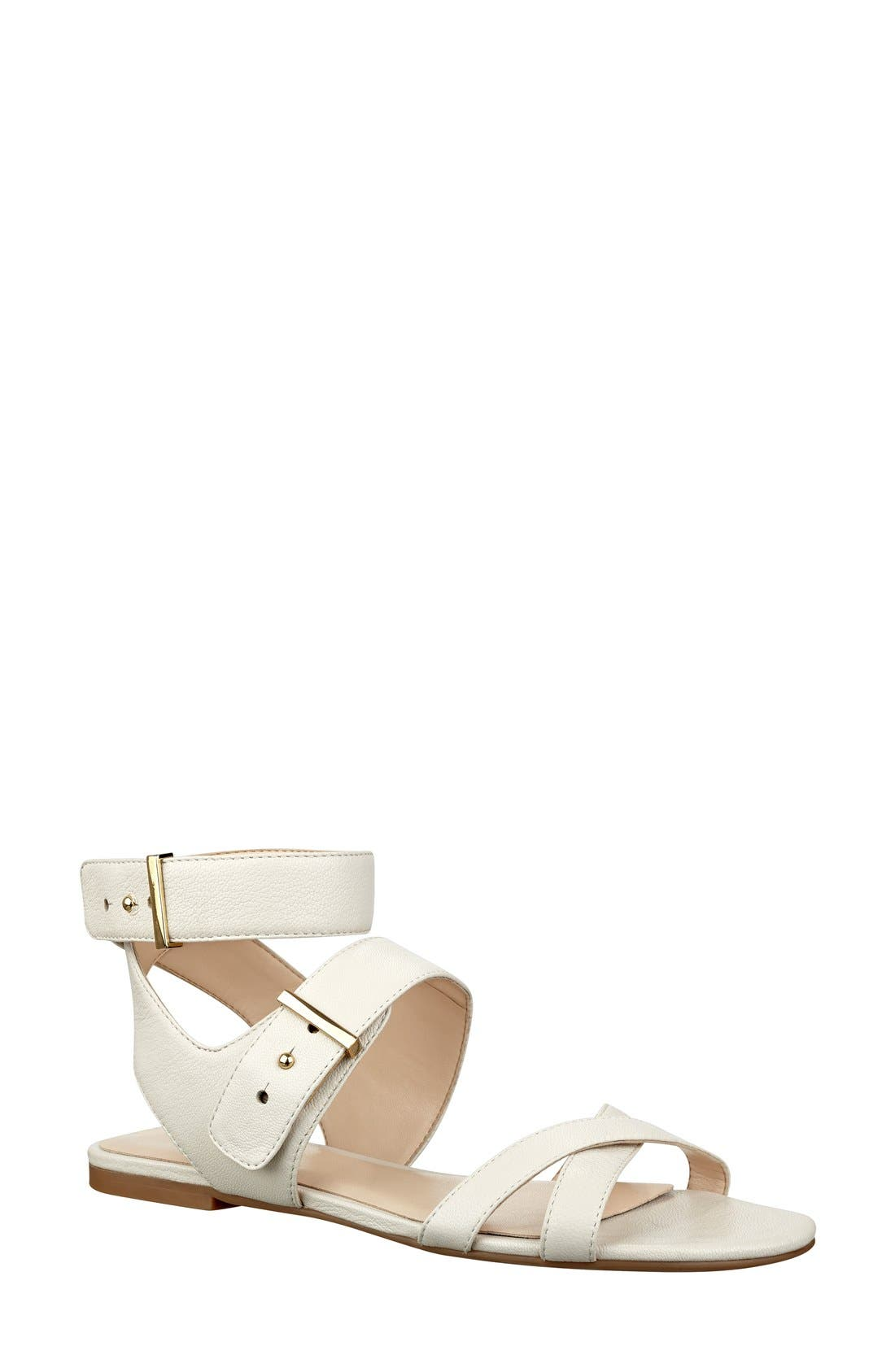 Alternate Image 1 Selected - Nine West 'Darcelle' Flat Sandal (Women)