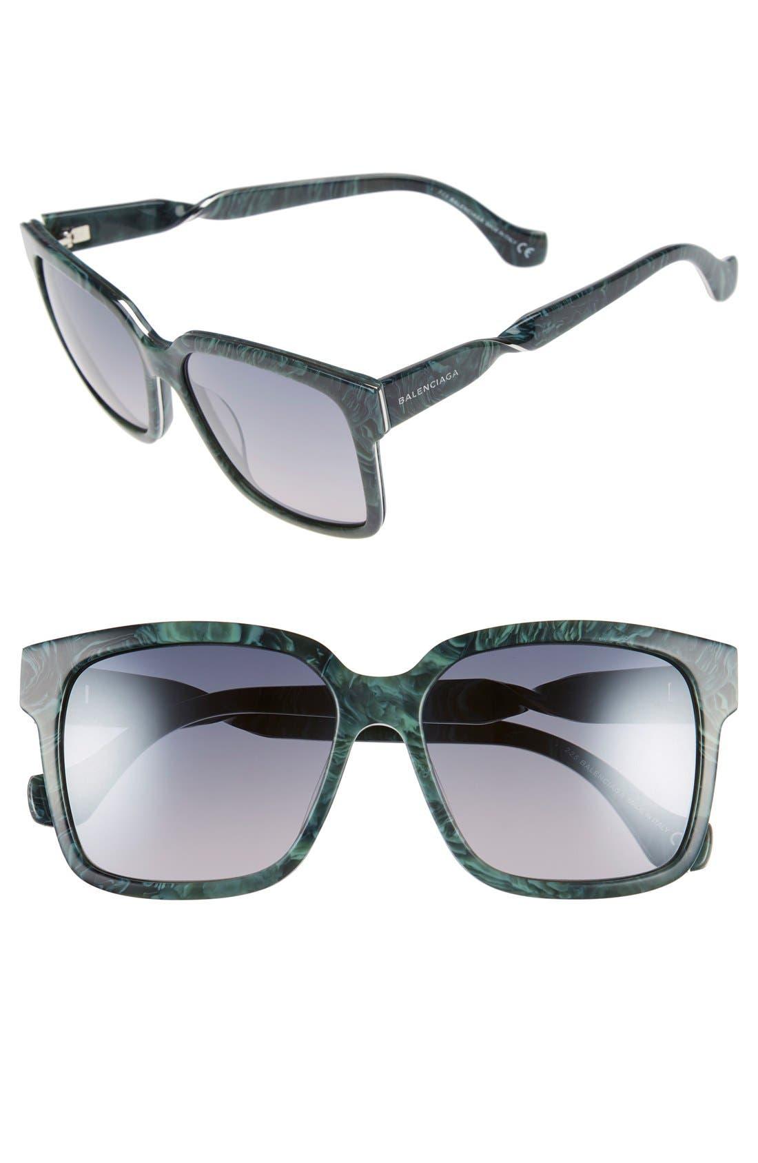 Alternate Image 1 Selected - Balenciaga Paris 'BA0053' 55mm Cat Eye Sunglasses