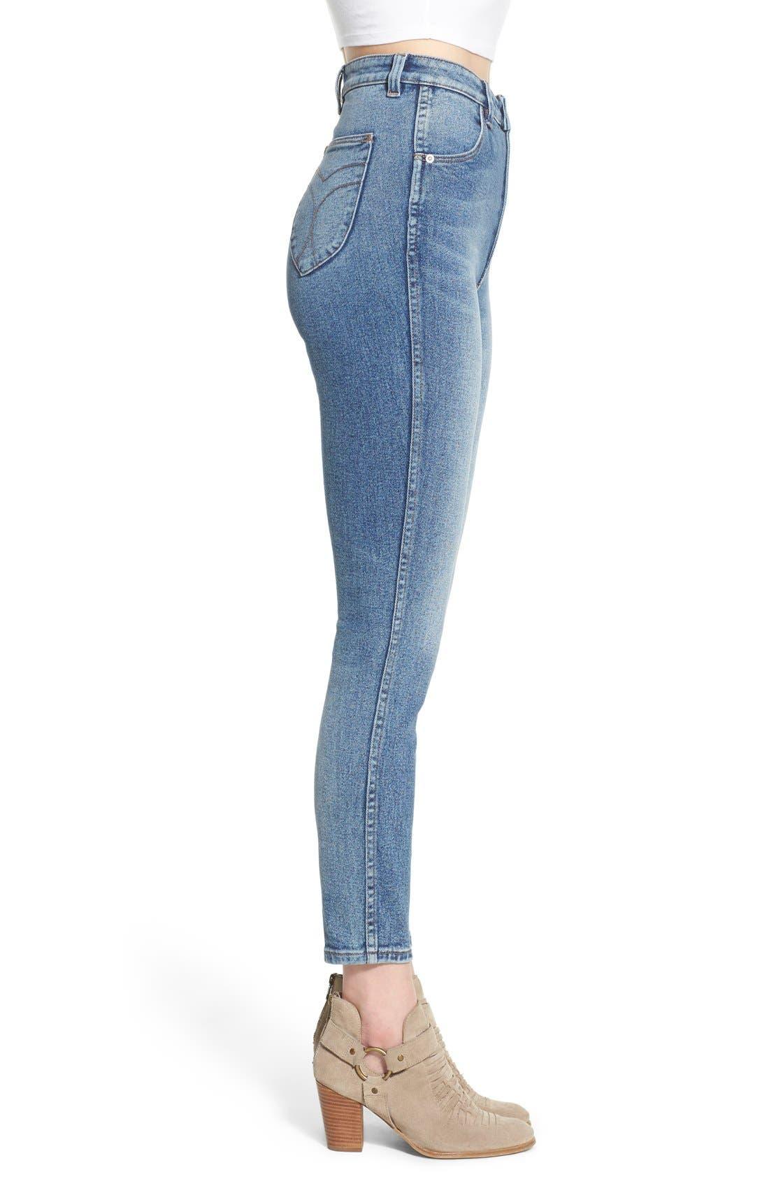 Alternate Image 3  - Rolla's 'East Coast' High Rise Ankle Skinny Jeans (Folk Blue)