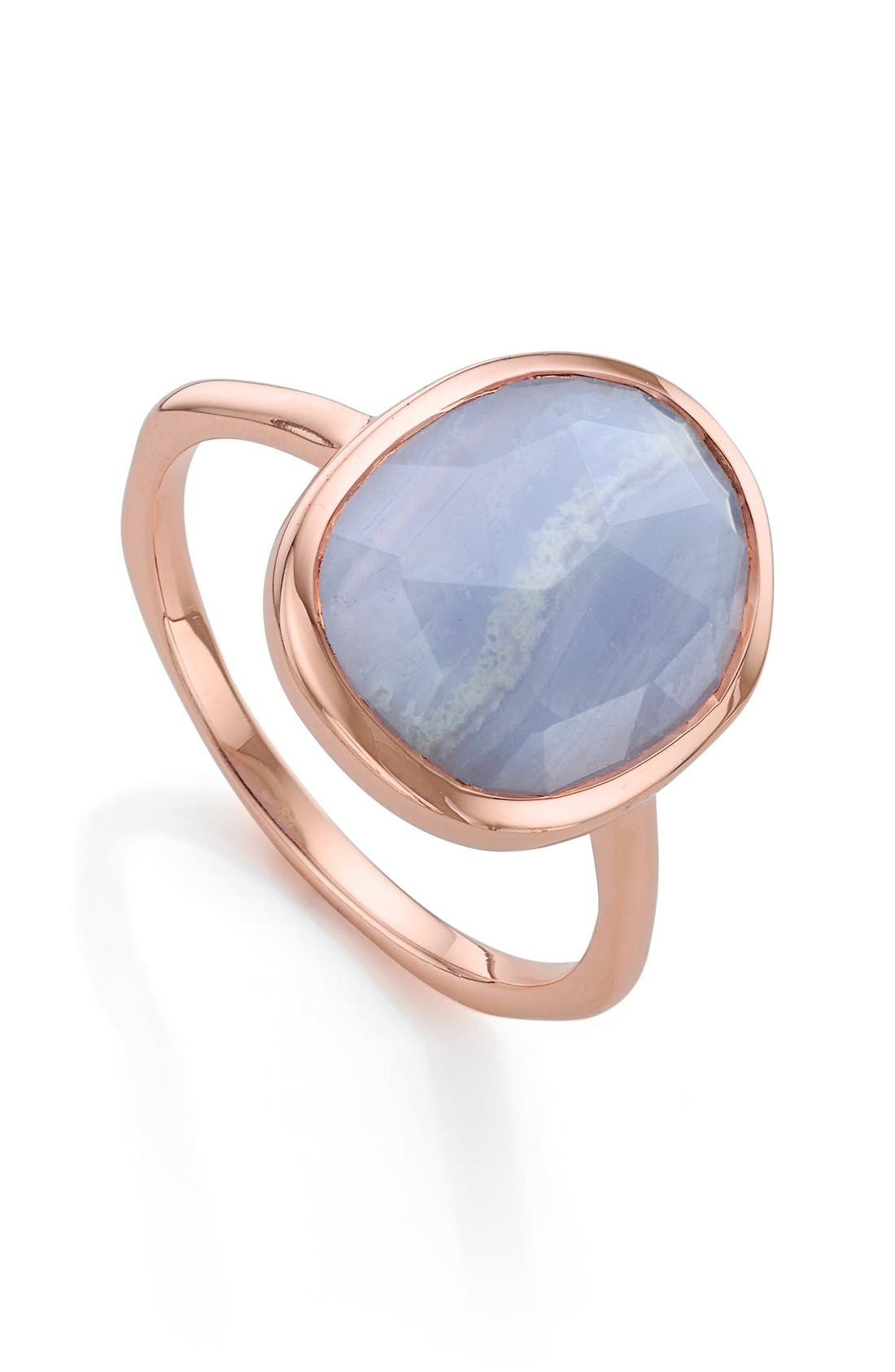 Alternate Image 1 Selected - Monica Vinader 'Siren' Medium Semiprecious Stone Stacking Ring
