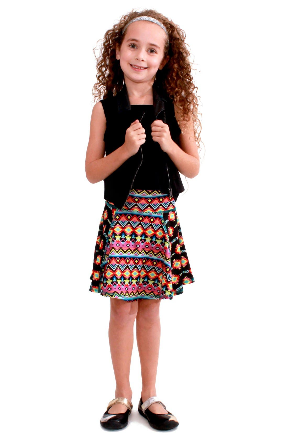 CHOOZE 'Flow' Mixed Print Skirt