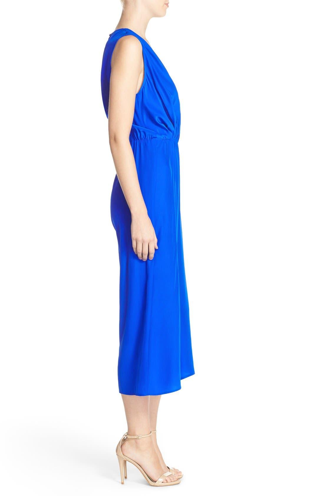 Alternate Image 3  - Amanda Uprichard 'Jessa' Sleeveless Crop Silk Jumpsuit