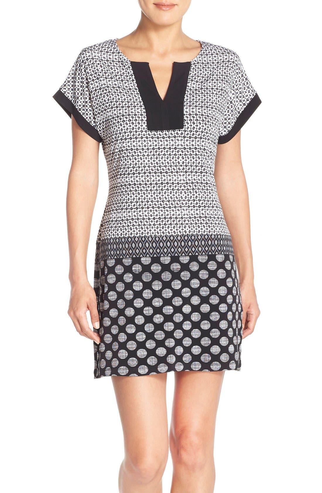 Alternate Image 1 Selected - London Times Mixed Print Jersey Shift Dress