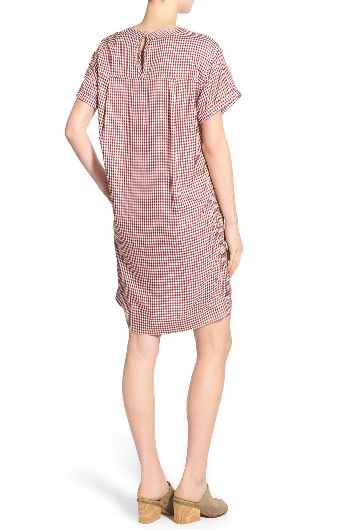 Alternate Image 2  - Madewell 'Filmscore' Gingham Check Shirt-Sleeve Dress