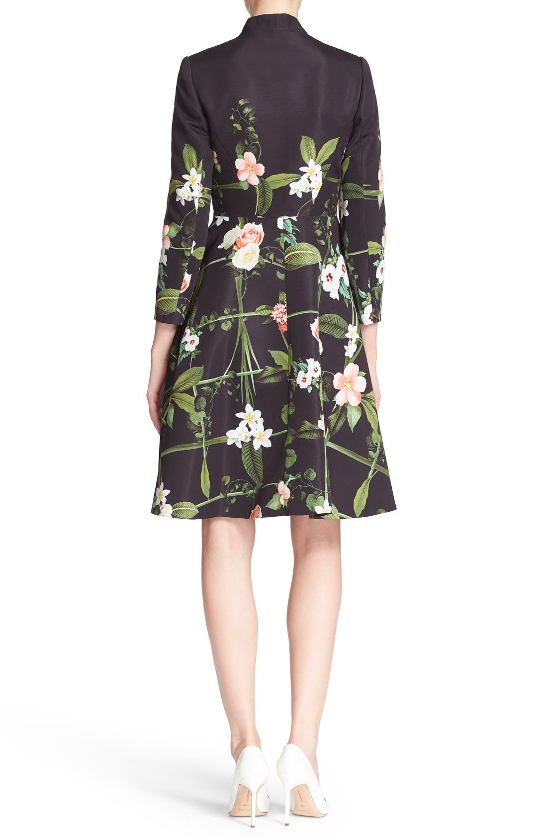 Alternate Image 2  - Ted Baker London 'Giova' Floral Print Fit & Flare Coat