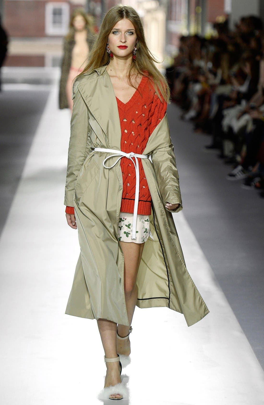 Alternate Image 2  - Topshop Unique 'Great Smith' Double Breasted Trench Coat
