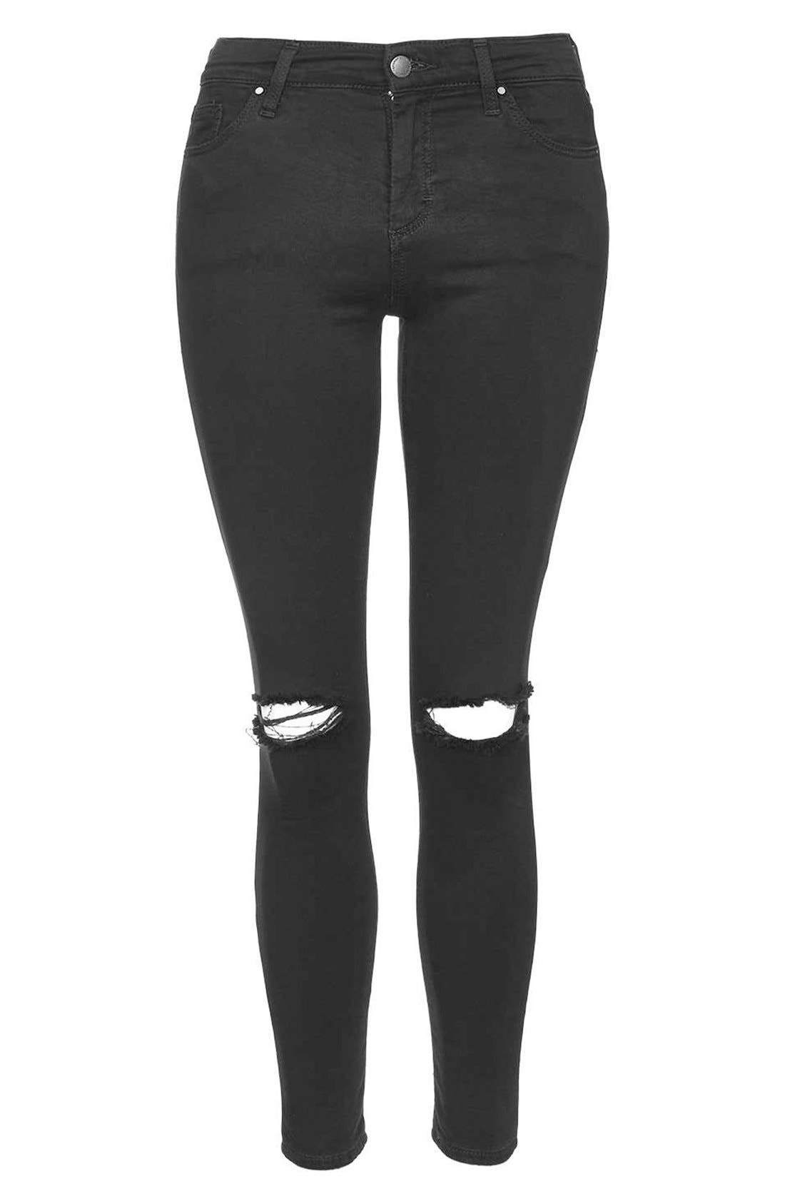 Alternate Image 4  - Topshop 'Leigh' Ripped Skinny Jeans (Petite)